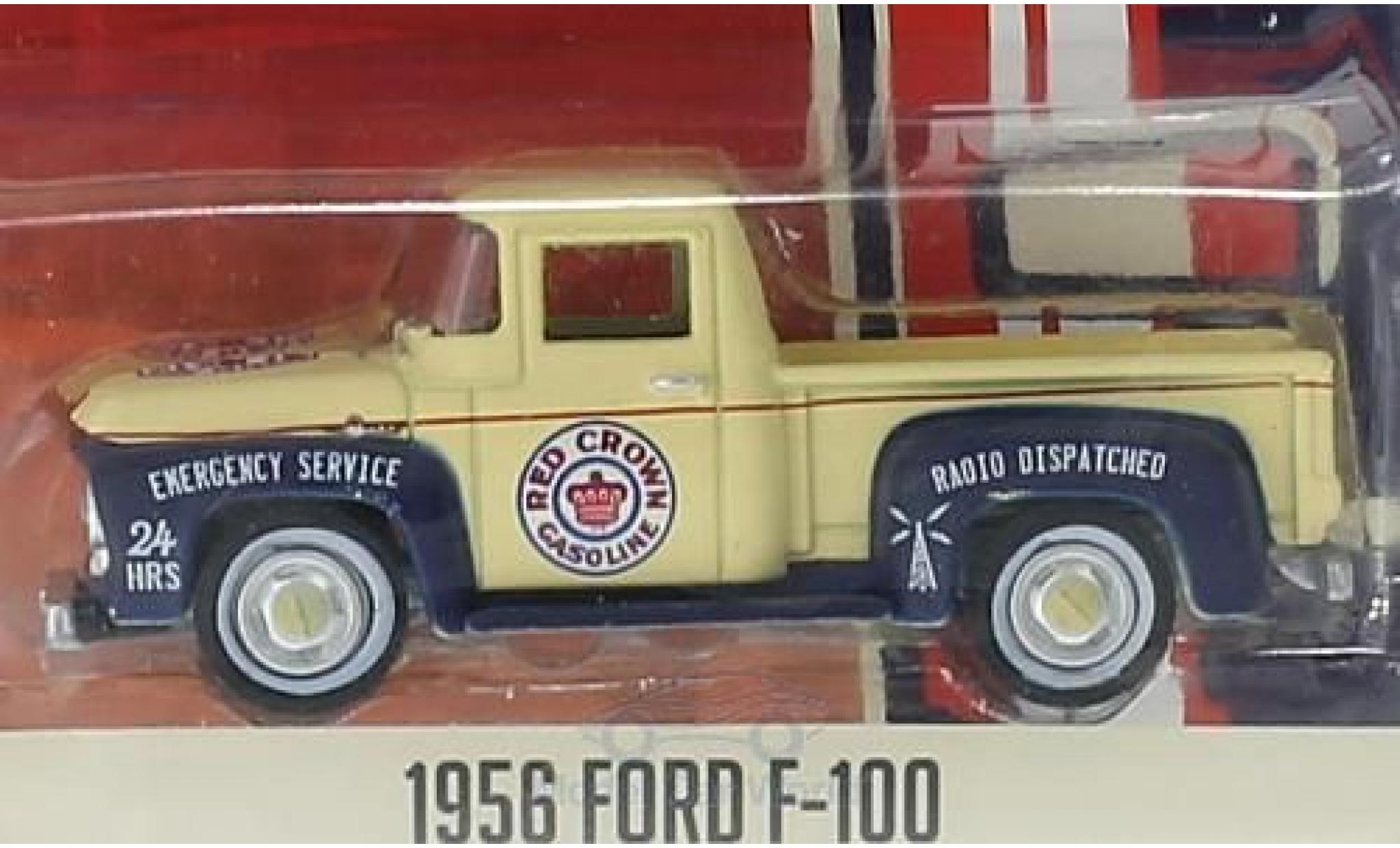 Ford F-1 1/64 Greenlight 00 Red Crown Gasoline 1956 Running On Empty Series 1 ohne Vitrine