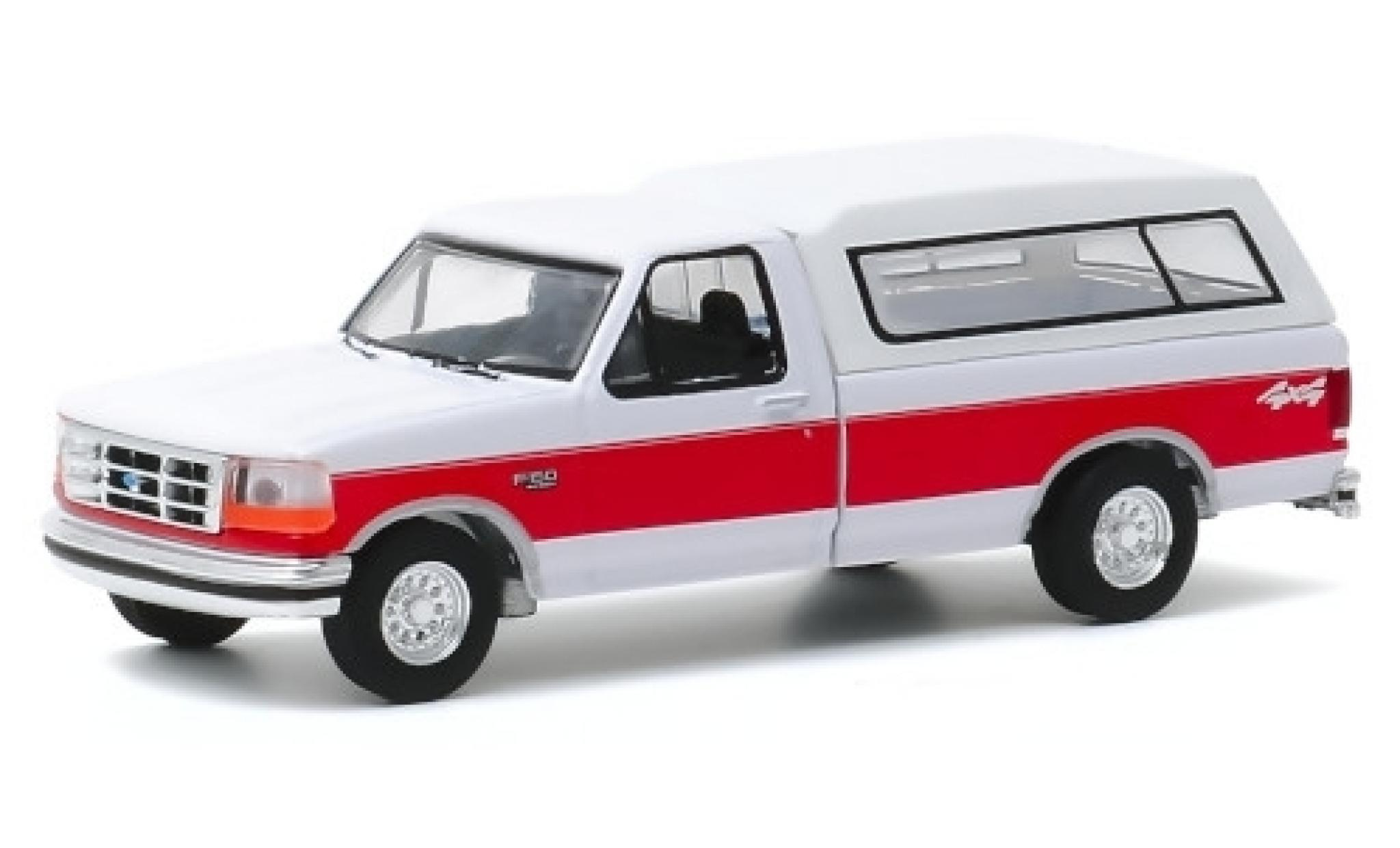 Ford F-1 1/64 Greenlight 50 XLT blanche/rouge 1994