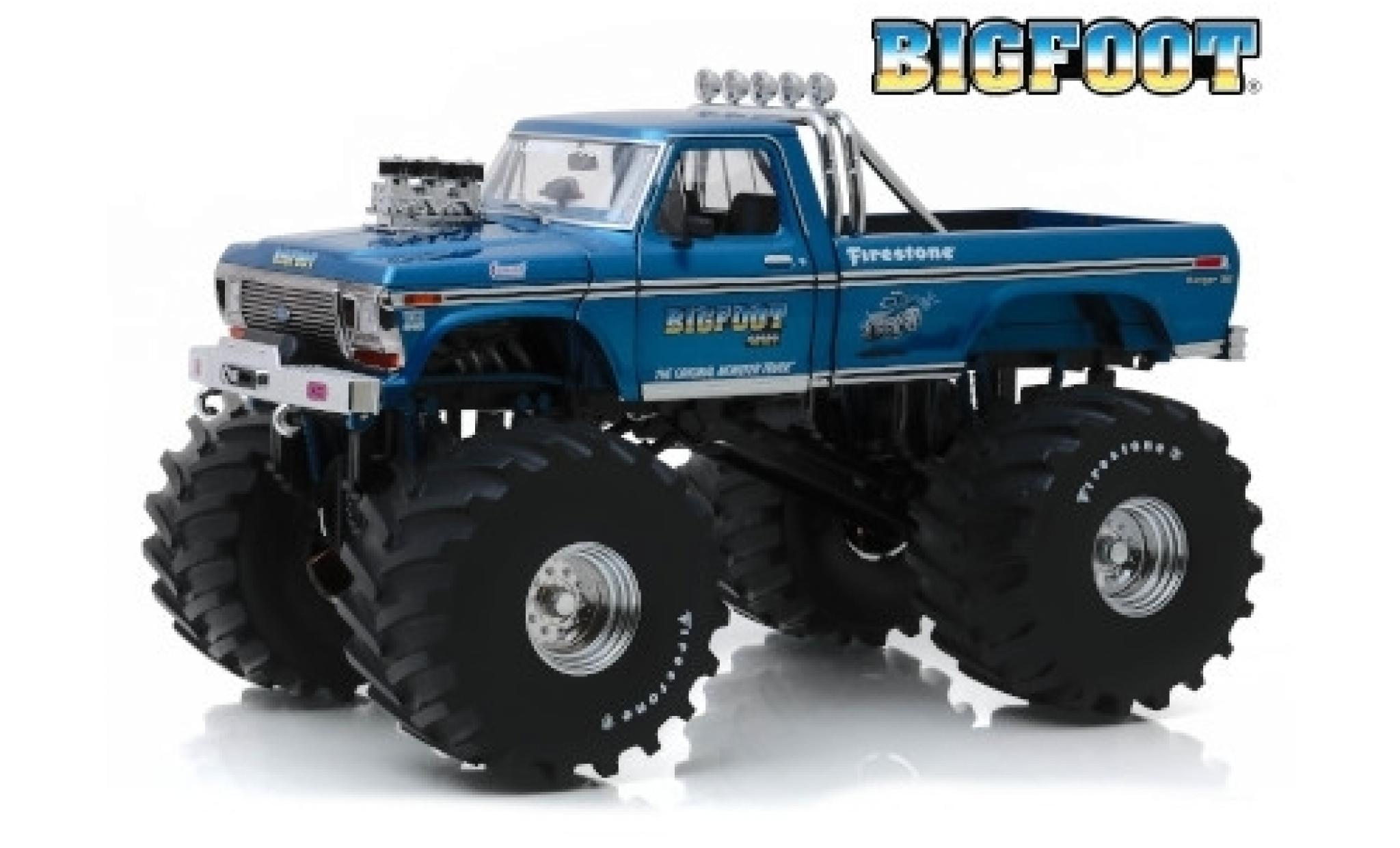 Ford F-250 1/18 Greenlight Monster Truck Bigfoot 1974 avec 66 Zoll-Bereifung