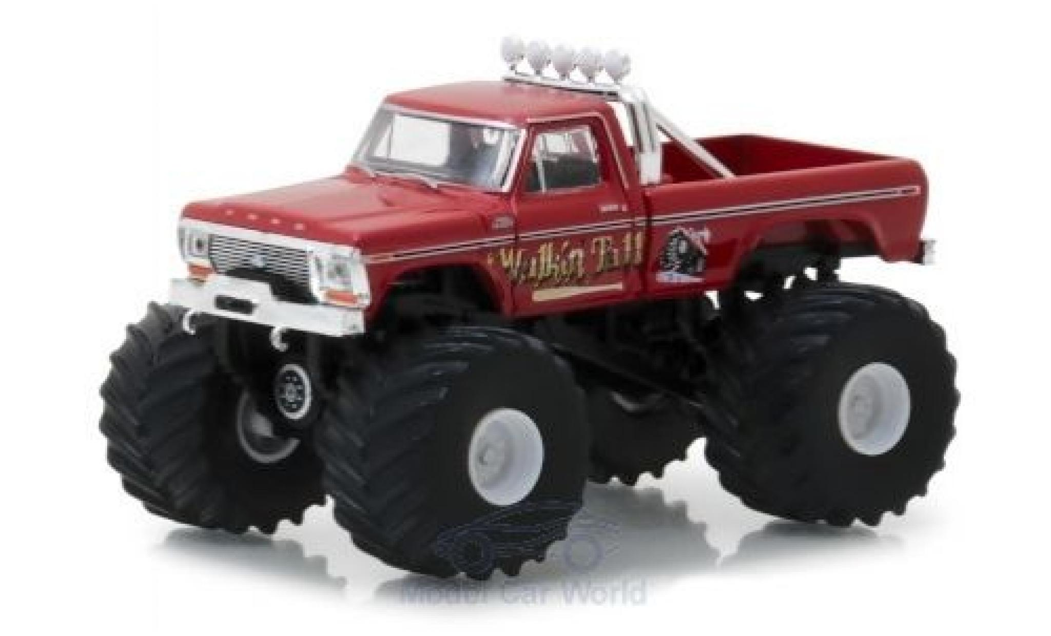 Ford F-250 1/64 Greenlight Monster Truck rouge Walkin Tall 1979