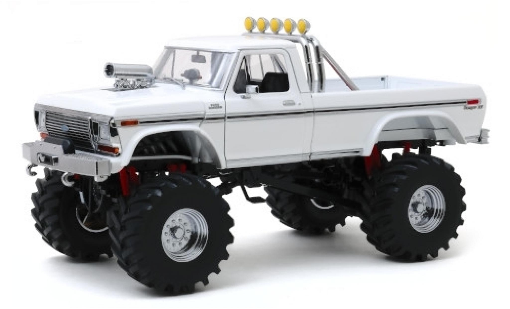 Ford F-250 1/18 Greenlight Monster Truck blanche 1979 avec 48 Zoll-Bereifung