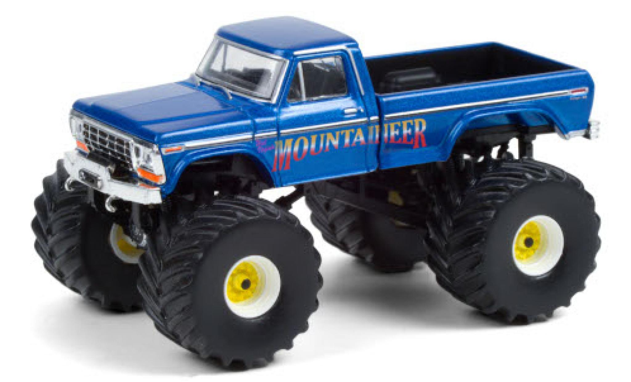 Ford F-250 1/64 Greenlight Monster Truck West Virginia Mountaineer 1979