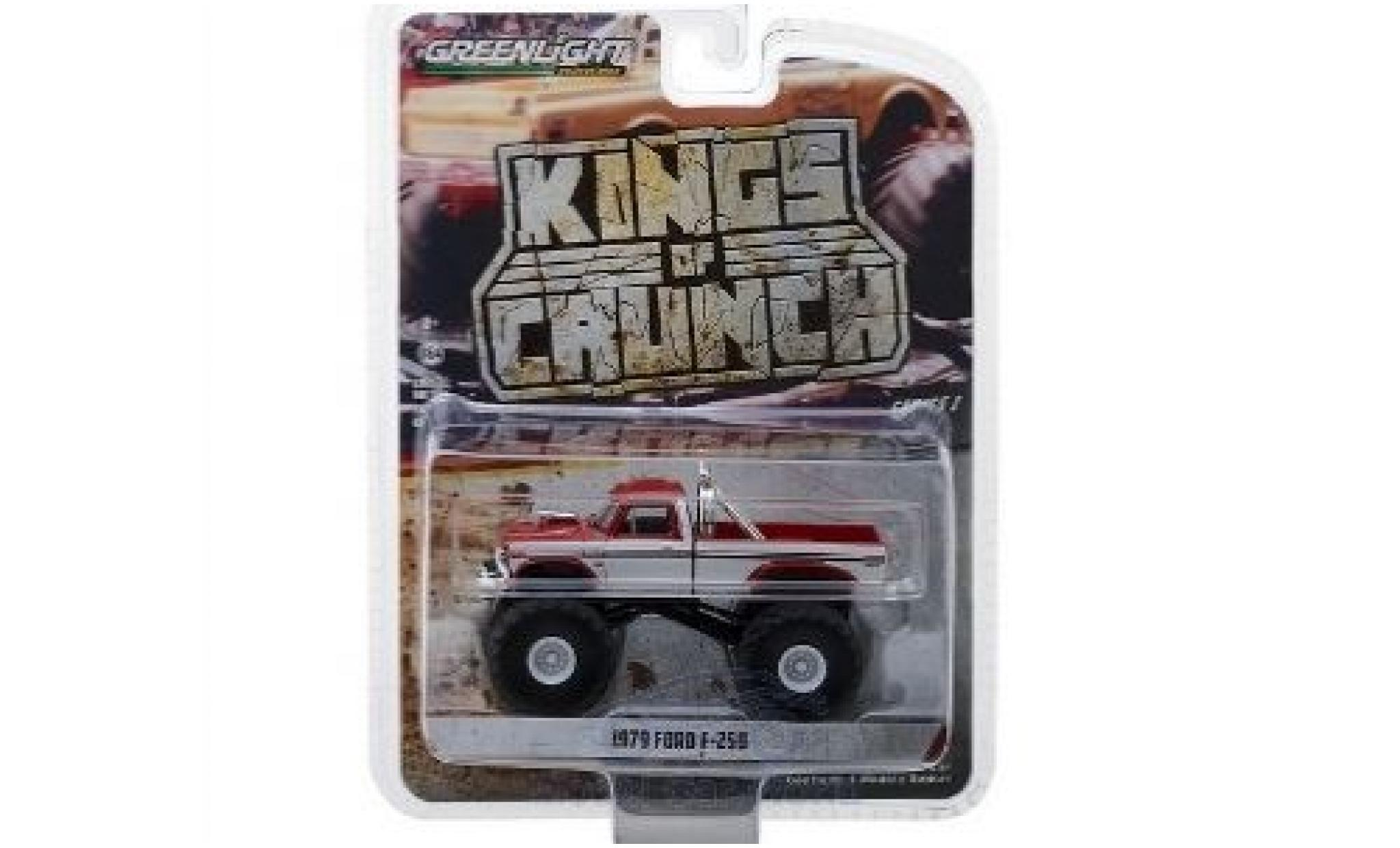 Ford F-250 1/64 Greenlight rouge/blanche 1979