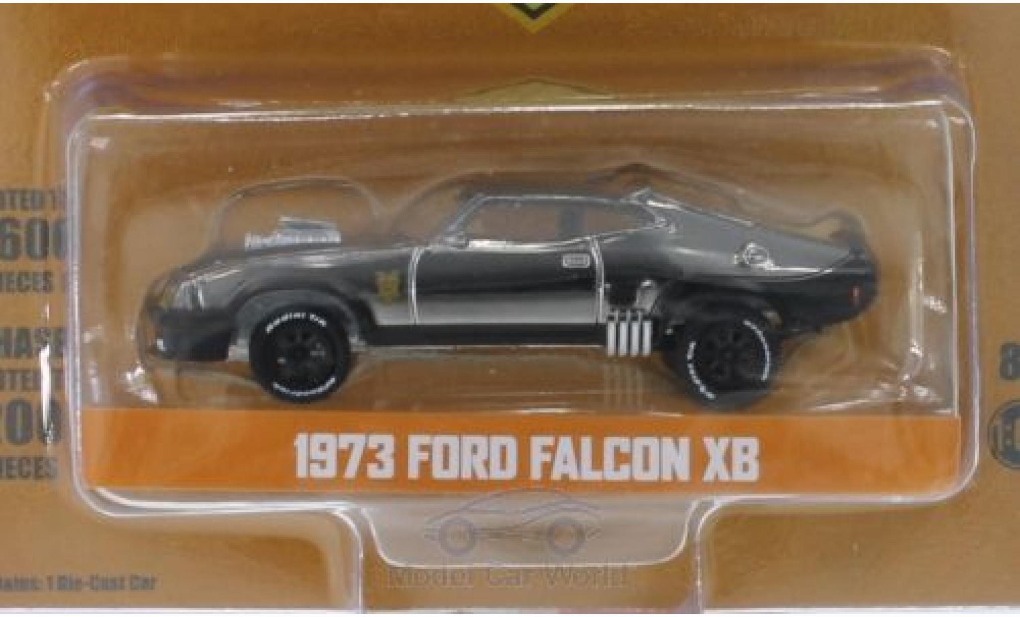Ford Falcon 1/64 Greenlight XB chrom/noire The Last of the V8 Interceptors Madmax 1973