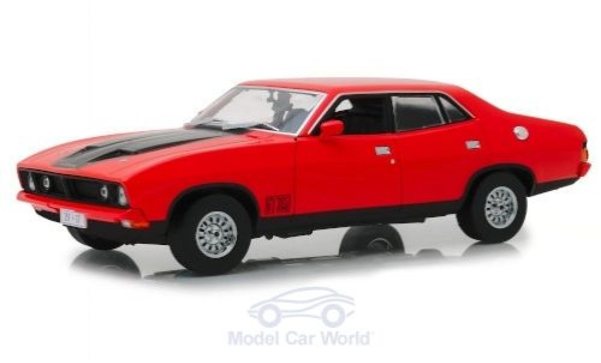 Ford Falcon 1/18 Greenlight XB GT 351 4-Door Saloon rouge/matt-noire RHD 1974
