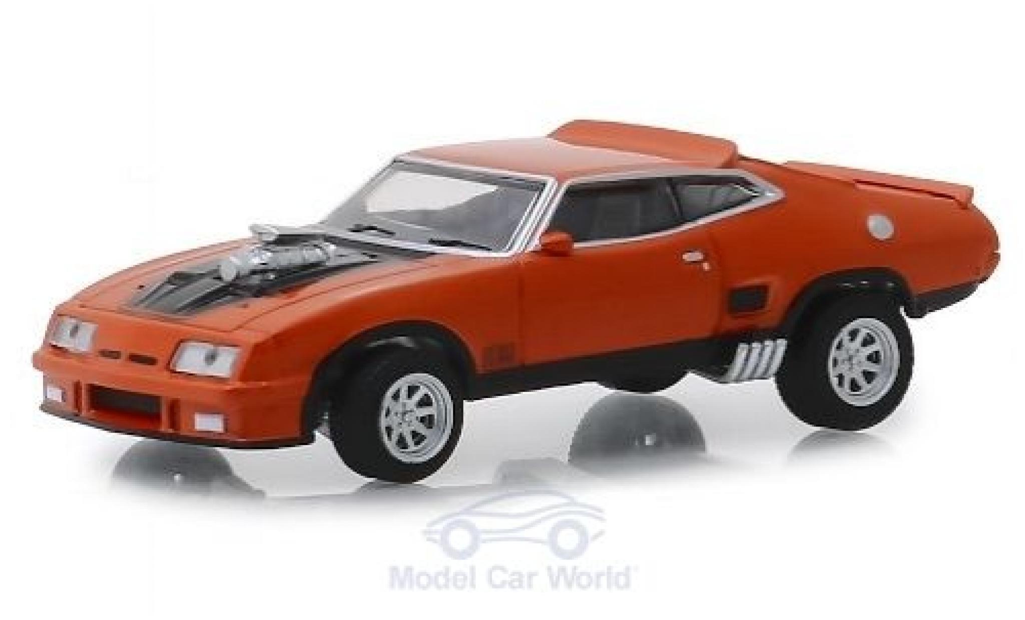 Ford Falcon 1/64 Greenlight XB orange/noire 1973