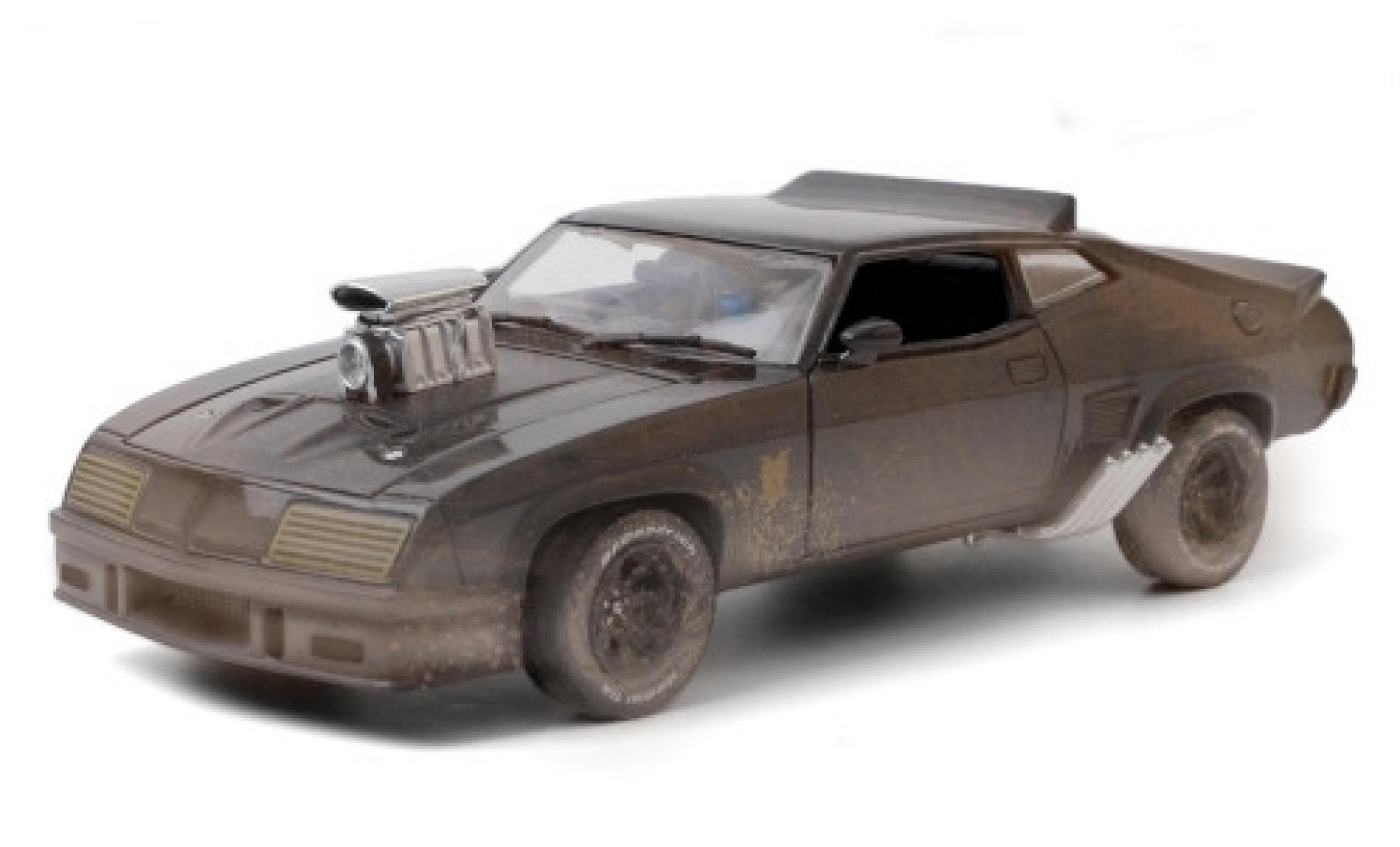 Ford Falcon 1/24 Greenlight XB noire RHD Mad Max - Last of the V8 Interceptors 1973 avec Witterungsspuren