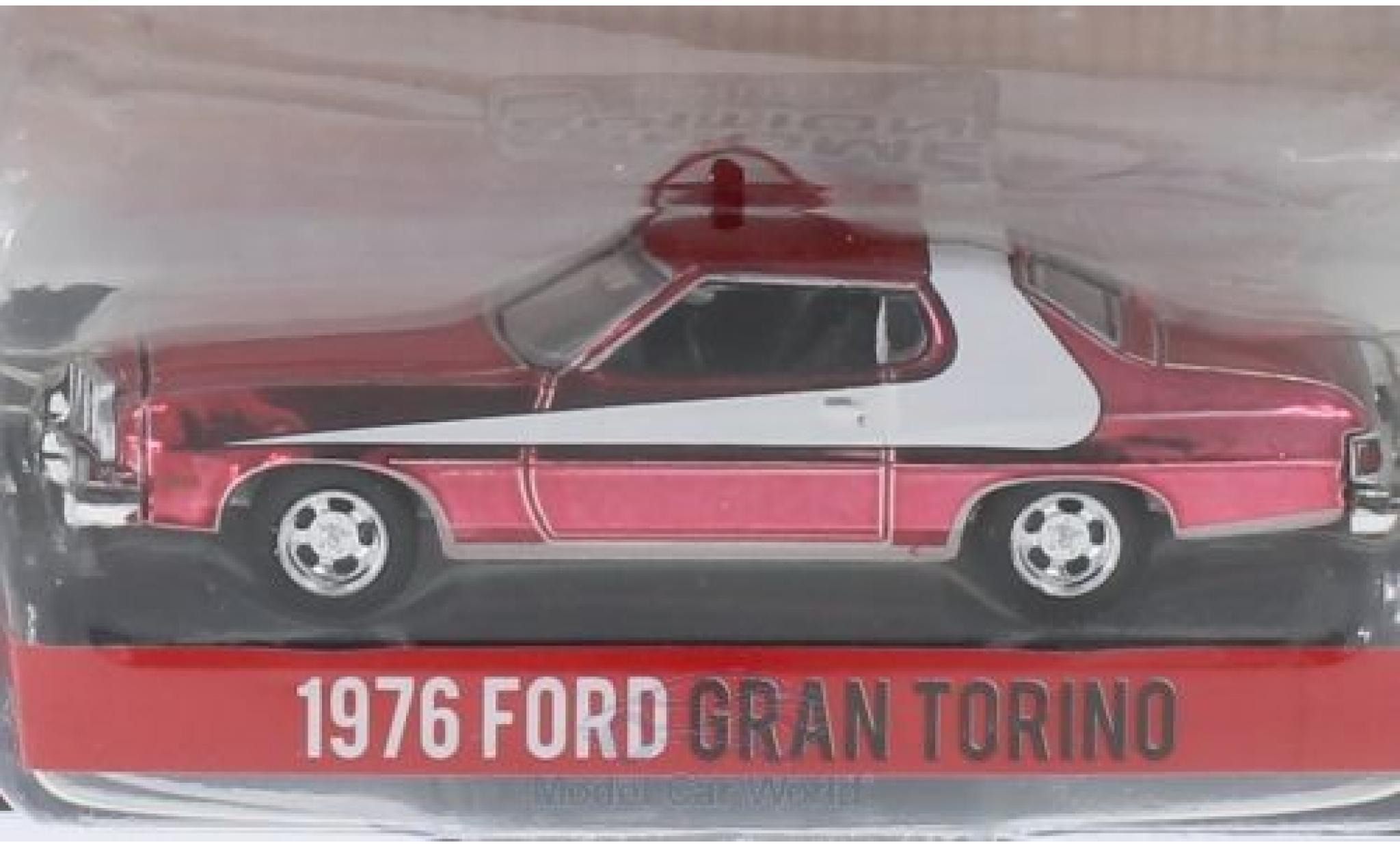 Ford Gran Torino 1/64 Greenlight rouge Starsky & Hutch