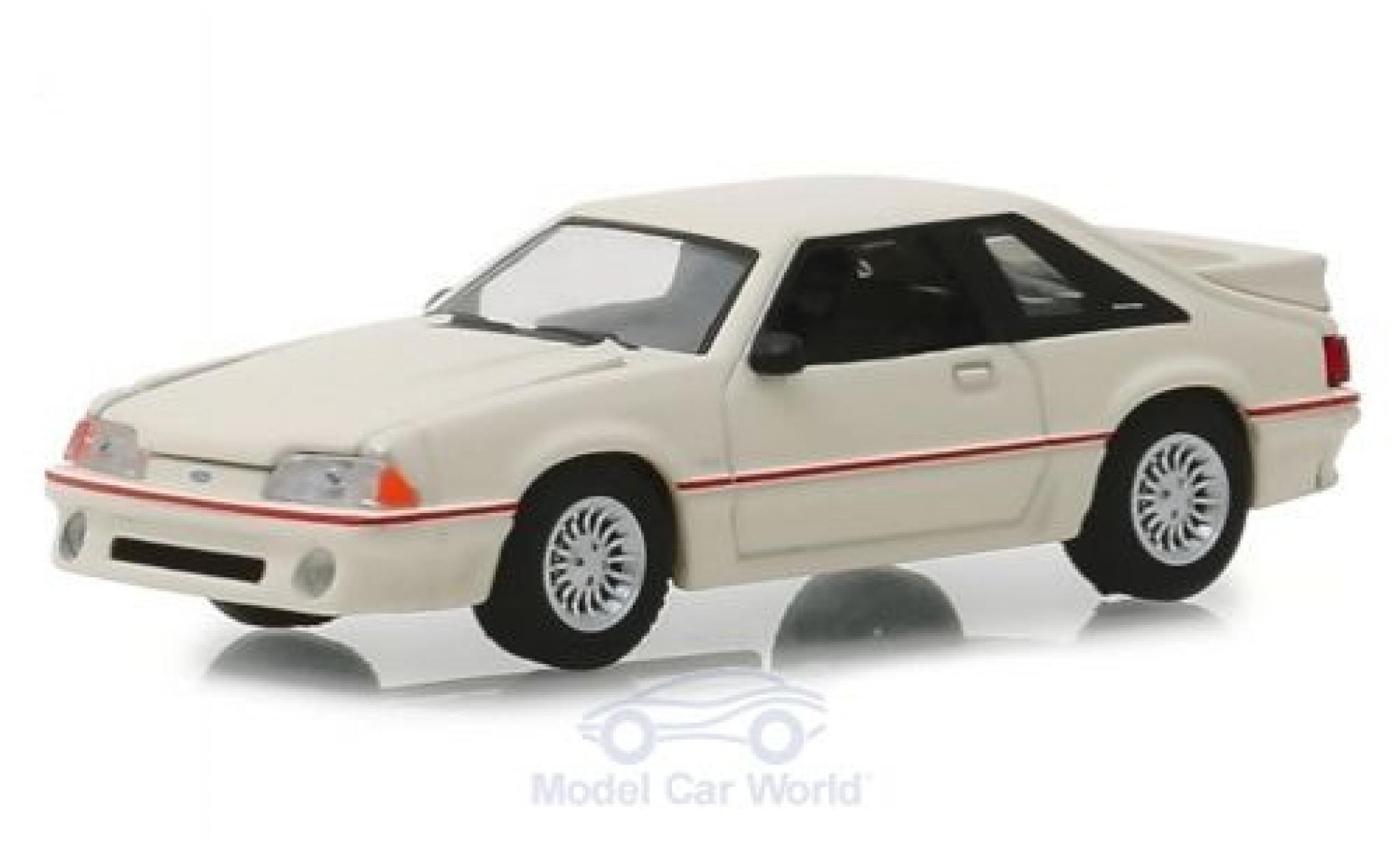 Ford Mustang 1/64 Greenlight 5.0 blanche 1989