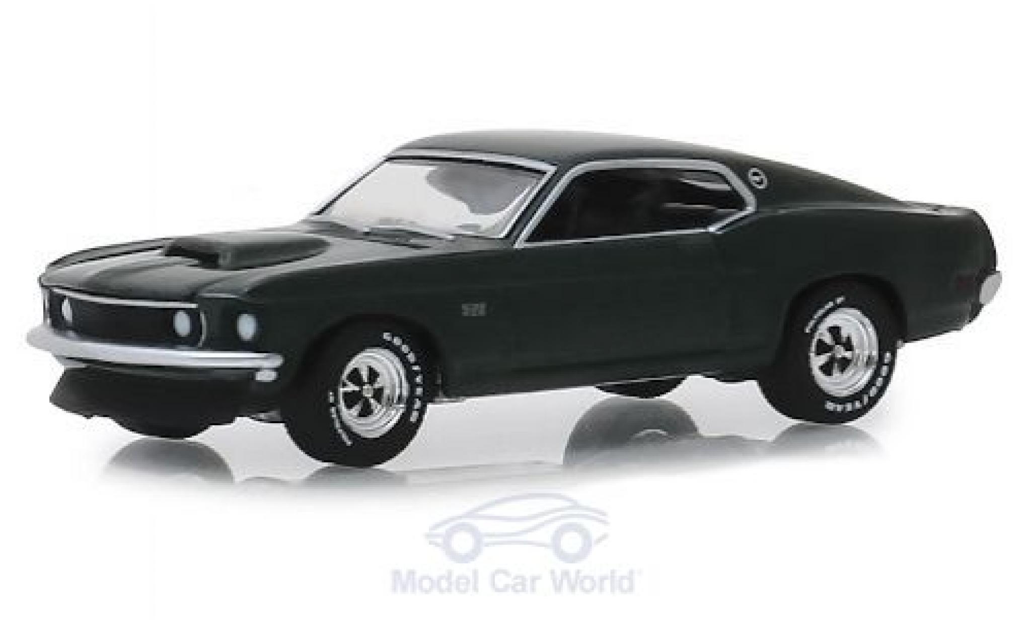 Ford Mustang 1/64 Greenlight BOSS 429 metallic green 1969