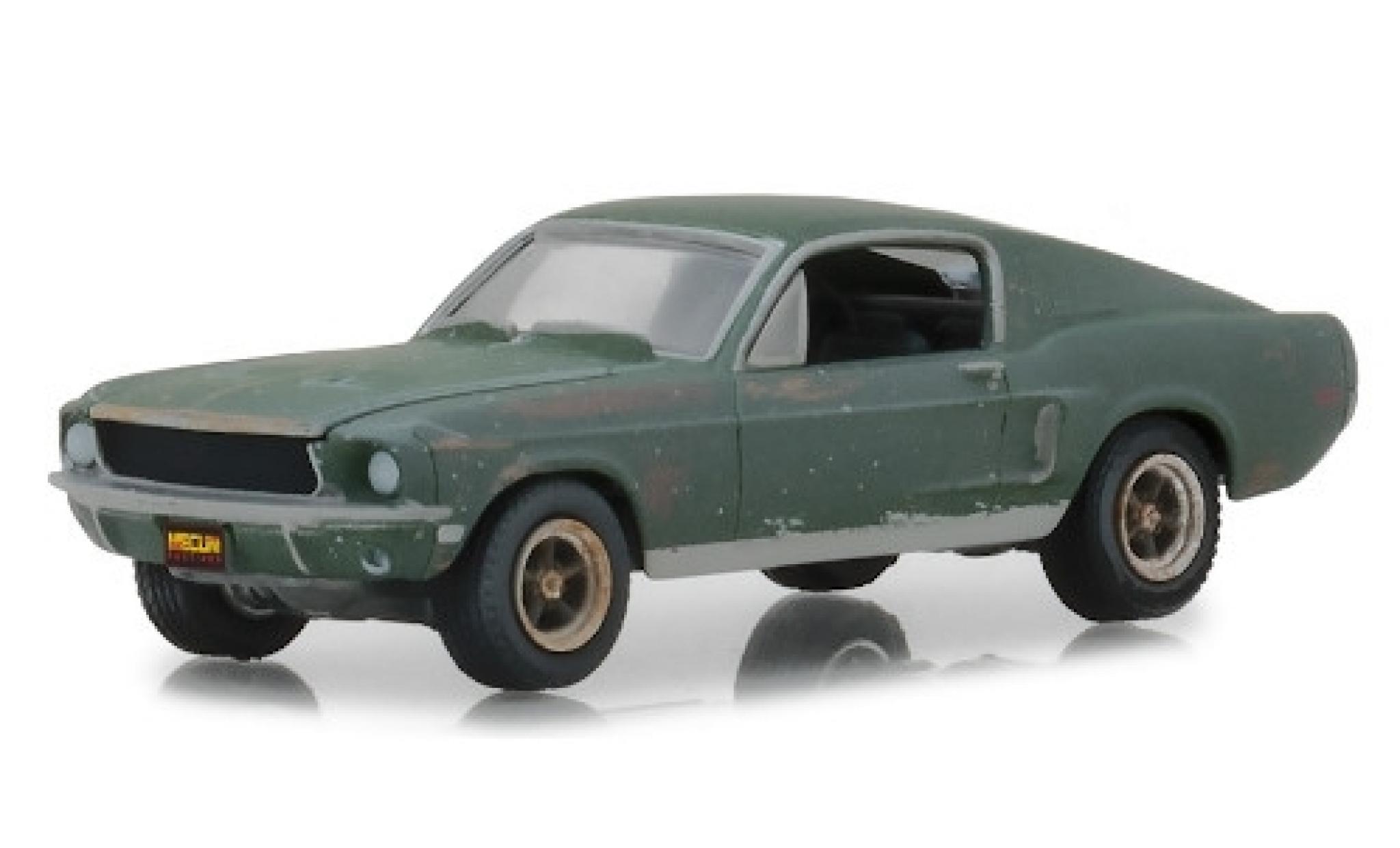Ford Mustang 1/64 Greenlight GT Fastback Bullitt 1968 unrestauriert mit Stickern