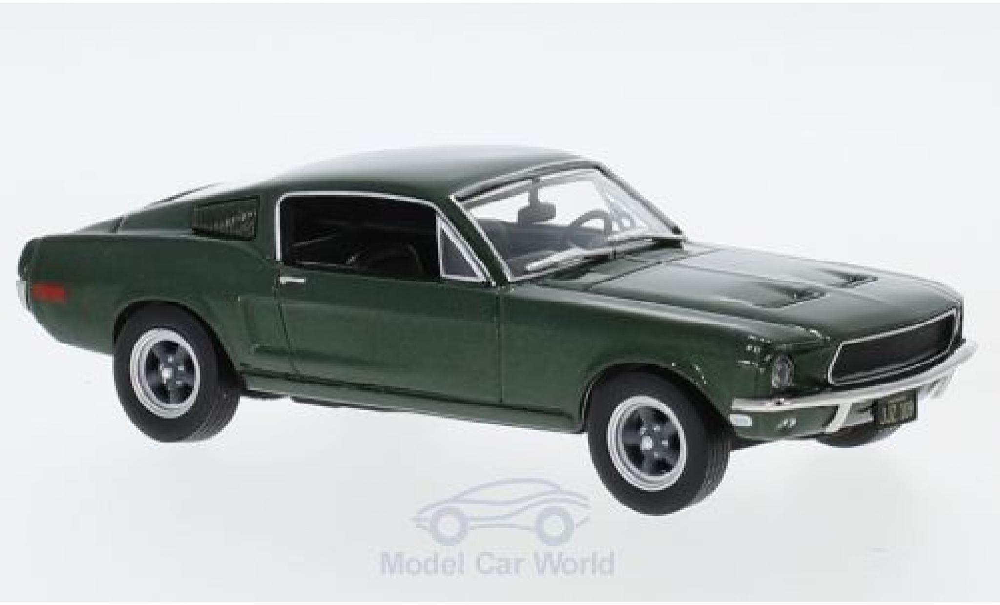 Ford Mustang GT 1/43 Greenlight metallise verte Bullitt 1968