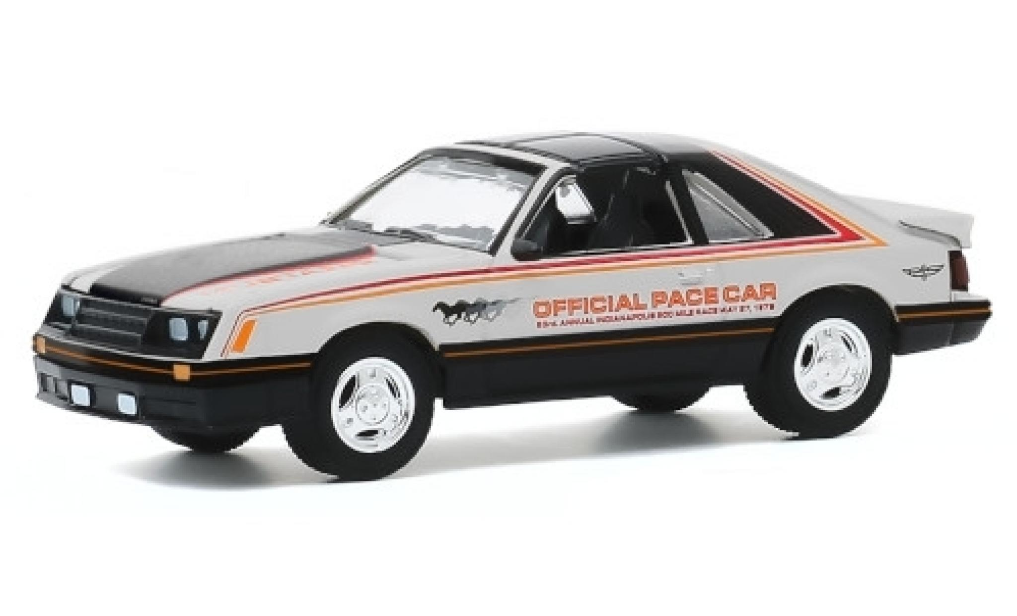 Ford Mustang 1/64 Greenlight Indianapolis 500 1979 63rd Annual 500 Mile Race Official Pace Car