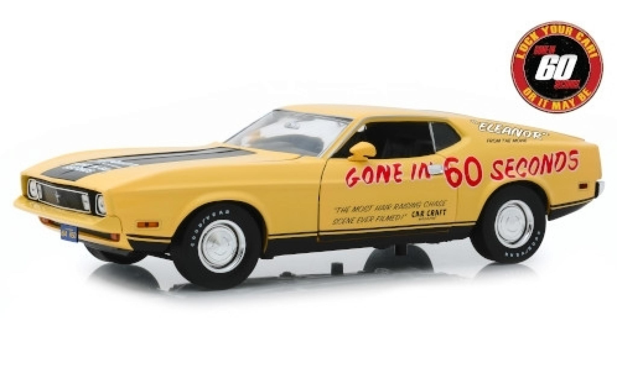 Ford Mustang 1/18 Greenlight Mach 1 Eleanor Gone in 60 Seconds 1973