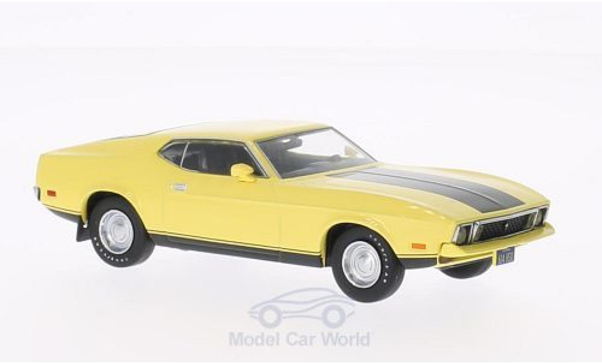 Ford Mustang 1/43 Greenlight Mach 1 Eleanor jaune Gone in 60 Seconds 1973 Eleanor