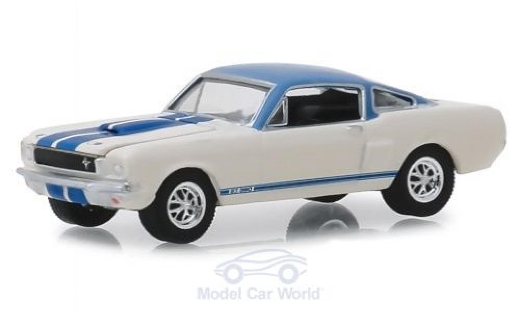 Ford Mustang GT 1/64 Greenlight Shelby 350 Prototype weiss/blau 1966