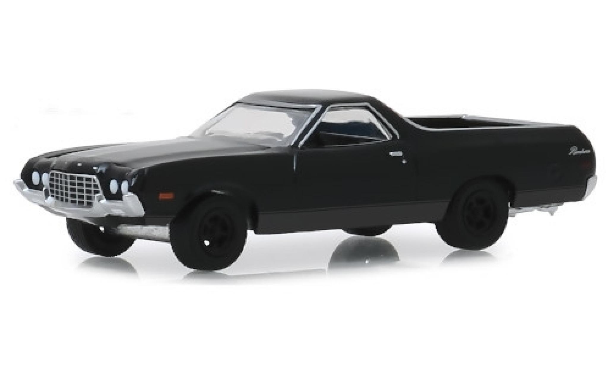 Ford Ranchero 1/64 Greenlight noire 1972