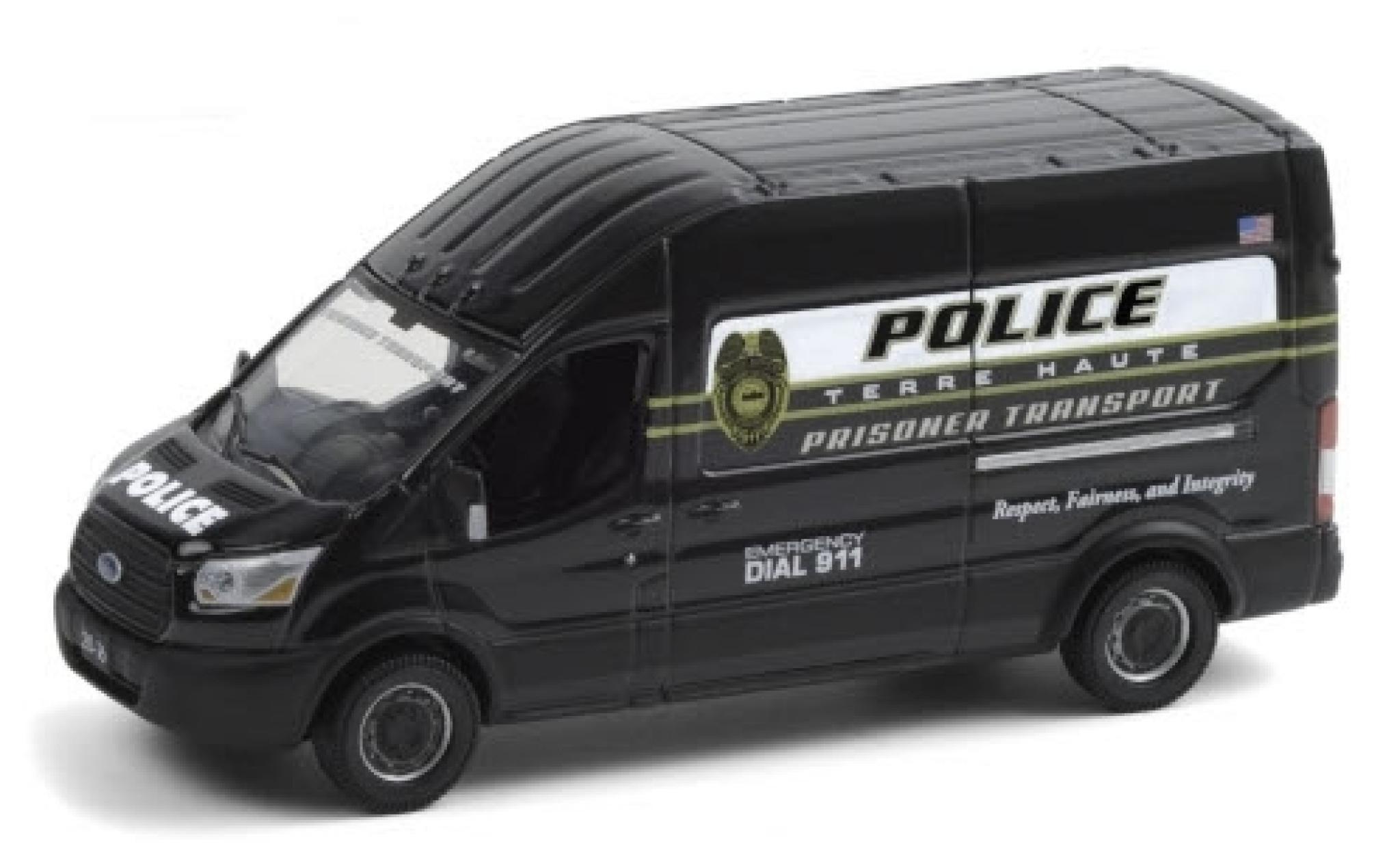Ford Transit 1/64 Greenlight LWB HD Terre Haute Police Department 2020 Prisoner Transport