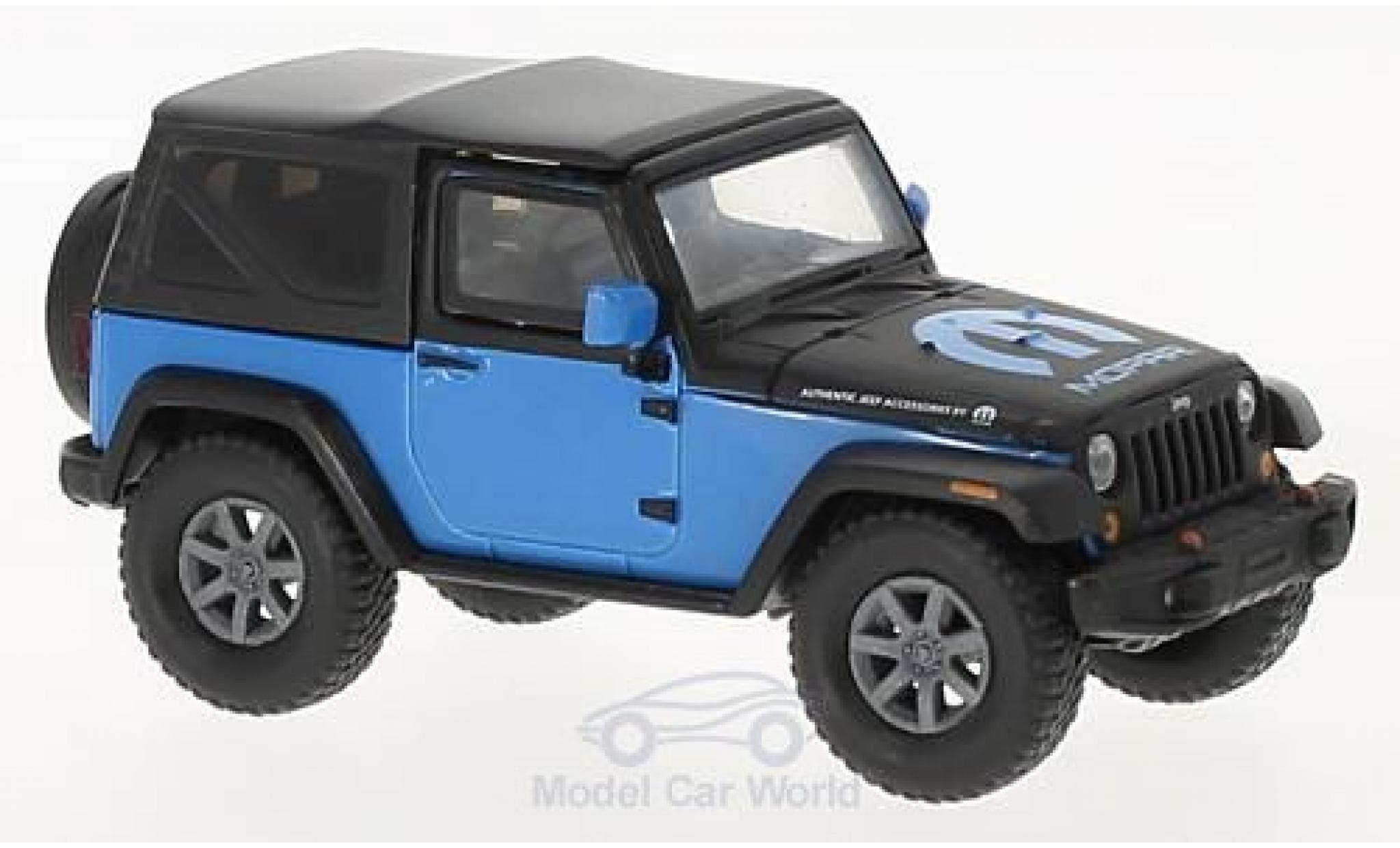 Jeep Wrangler 1/43 Greenlight bleue/noire MOPAR 2010
