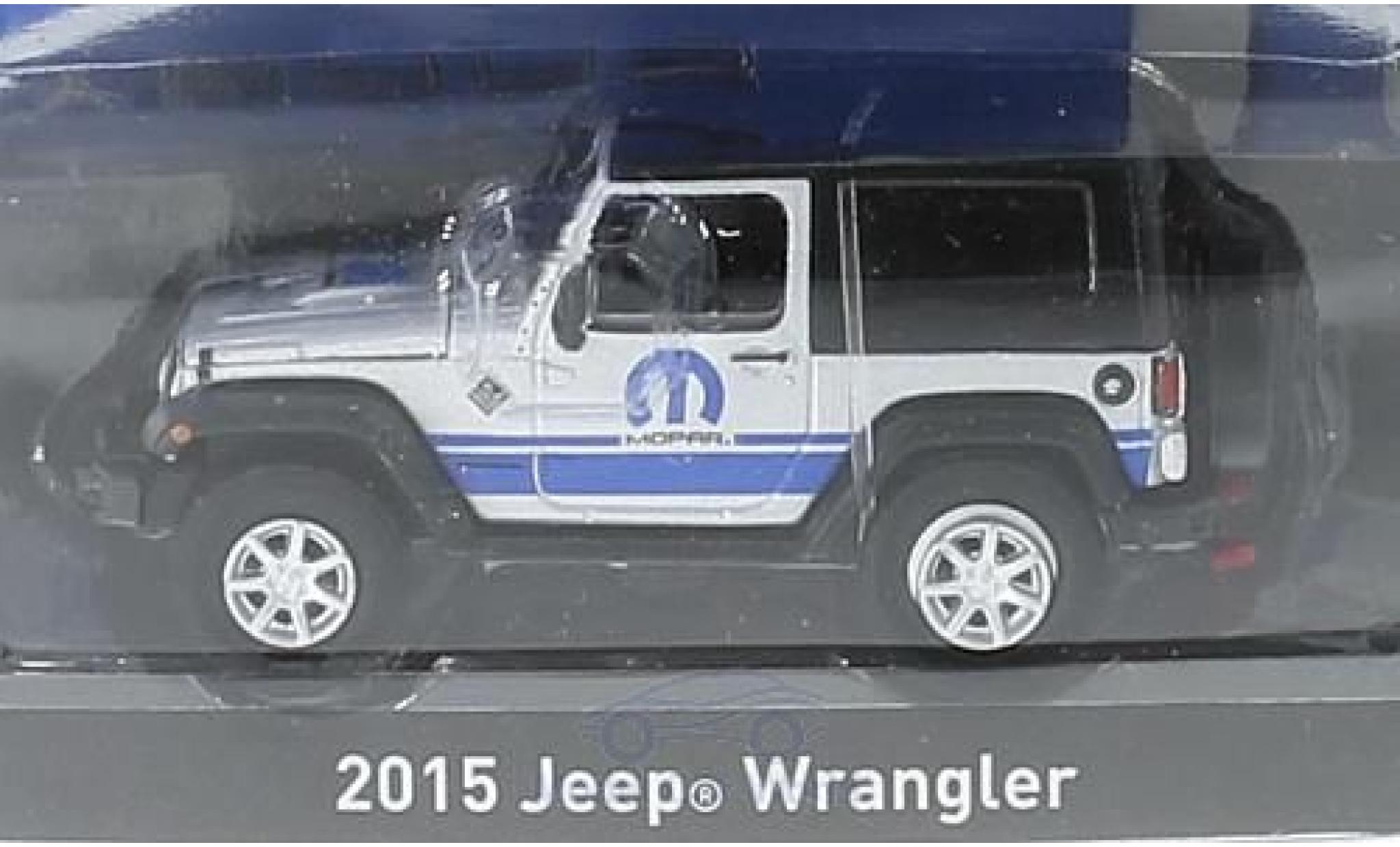 Jeep Wrangler 1/64 Greenlight grise/noire 2015