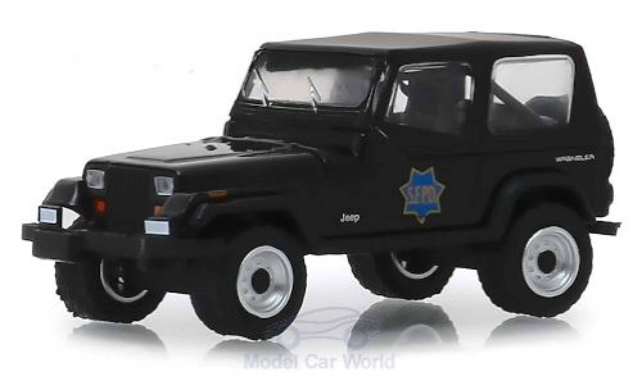 Jeep Wrangler 1/64 Greenlight YJ S.F.P.D. - San Francisco Police Department 1994