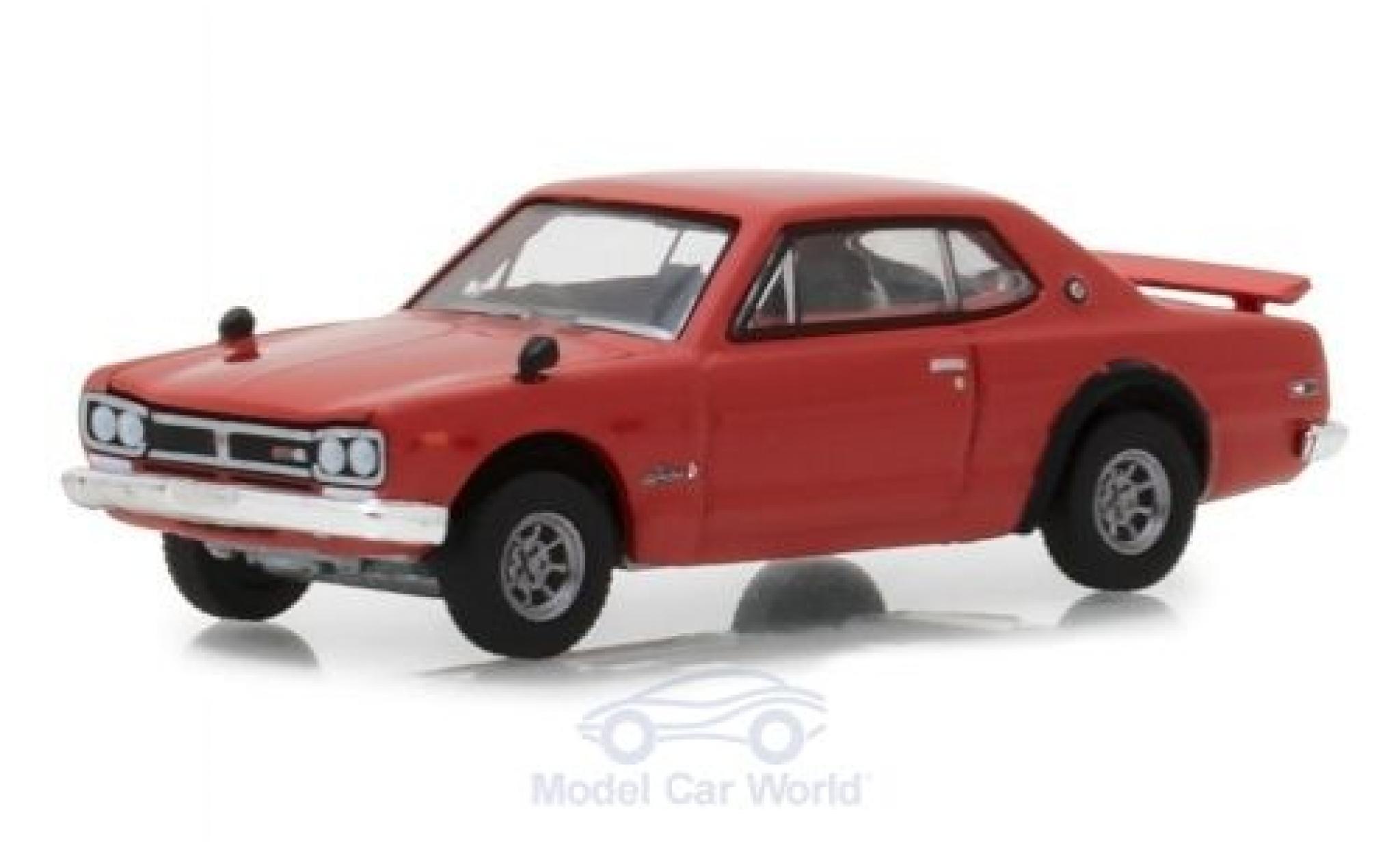 Nissan Skyline 1/64 Greenlight 2000 GT-R red 1972