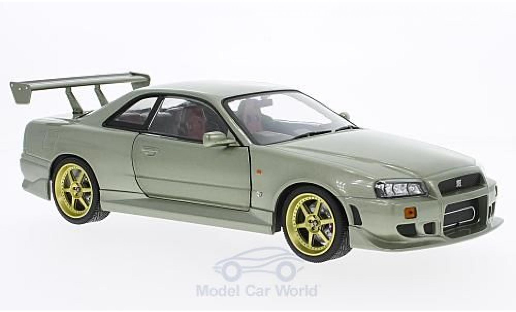 Nissan Skyline 1/18 Greenlight GT-R34 metallic-hellgrün RHD 1999