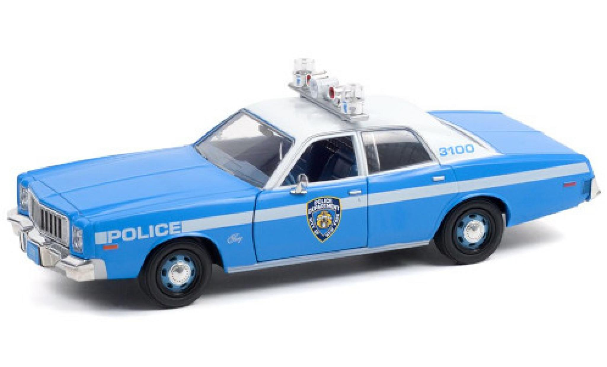 Plymouth Fury 1/43 Greenlight New York Police Department 1975