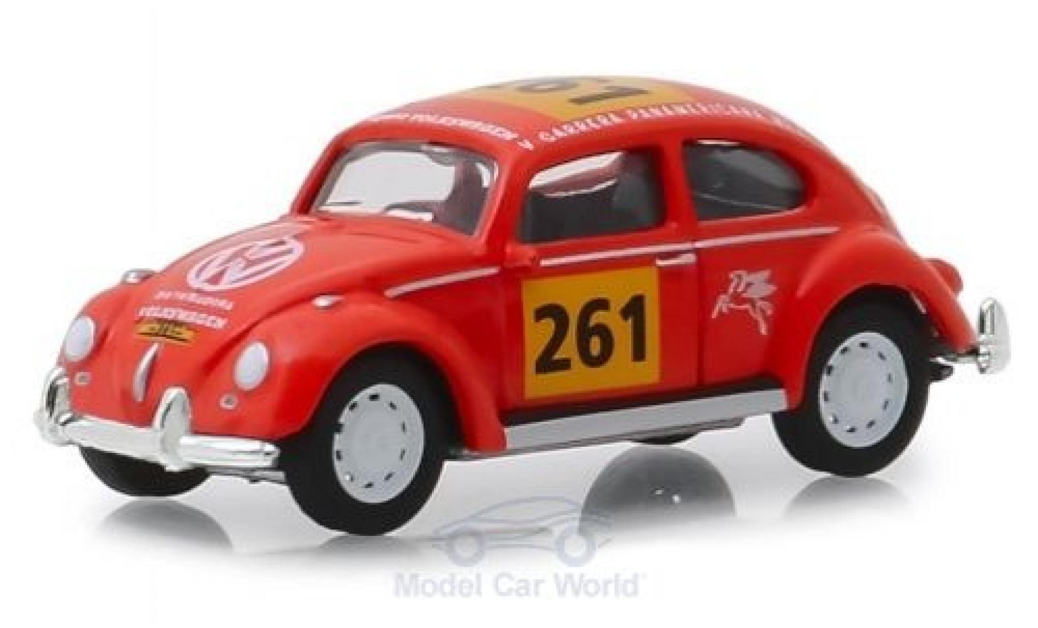 Volkswagen Beetle 1/64 Greenlight orange No.261 La Carrera Panamericana 1954