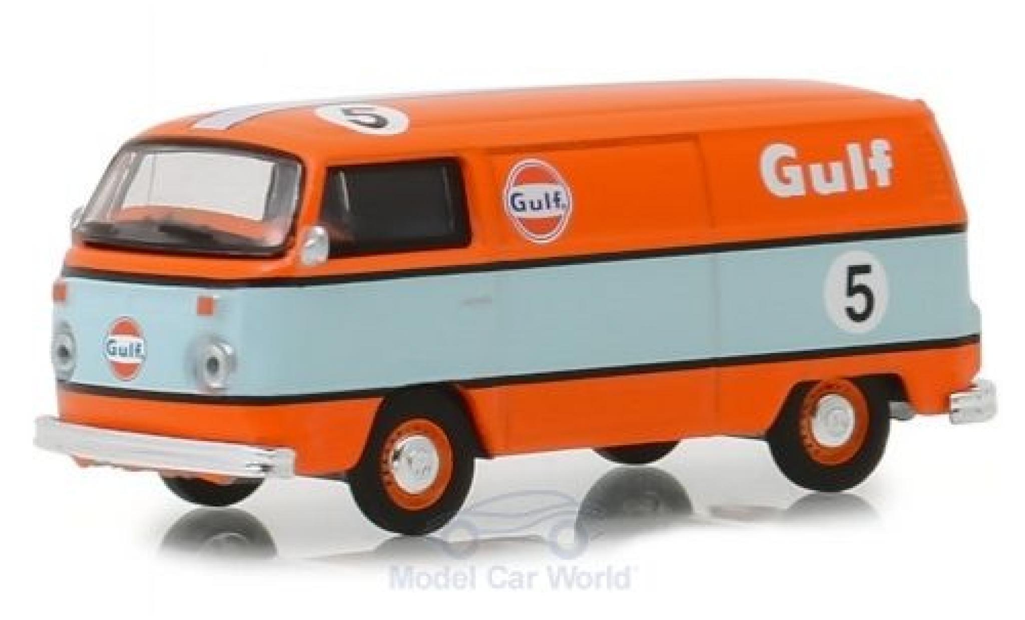 Volkswagen T2 1/64 Greenlight Kastenwagen orange/blue 1975