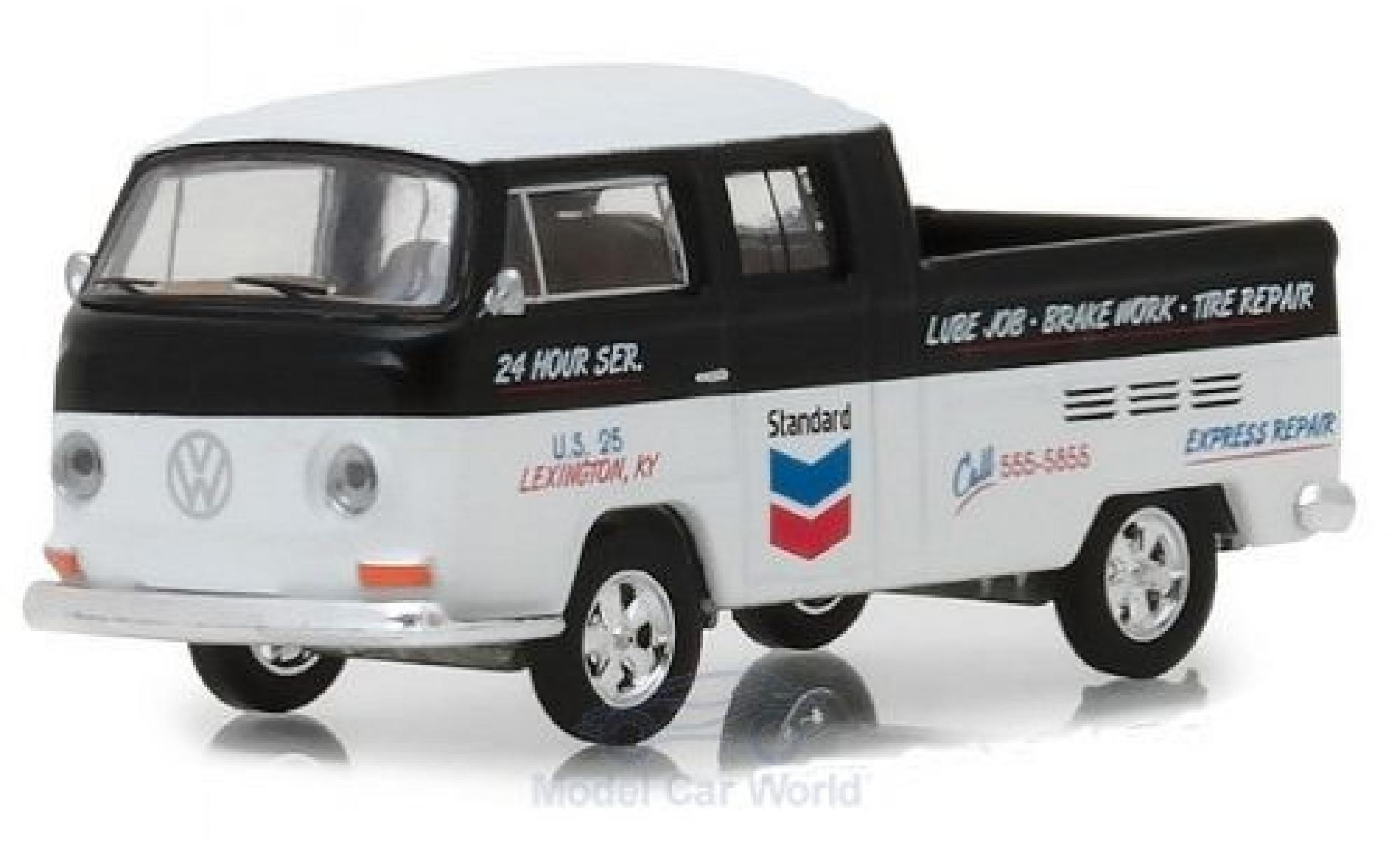 Volkswagen T2 B 1/64 Greenlight Type 2 Double Cab noire/blanche Standard 1968
