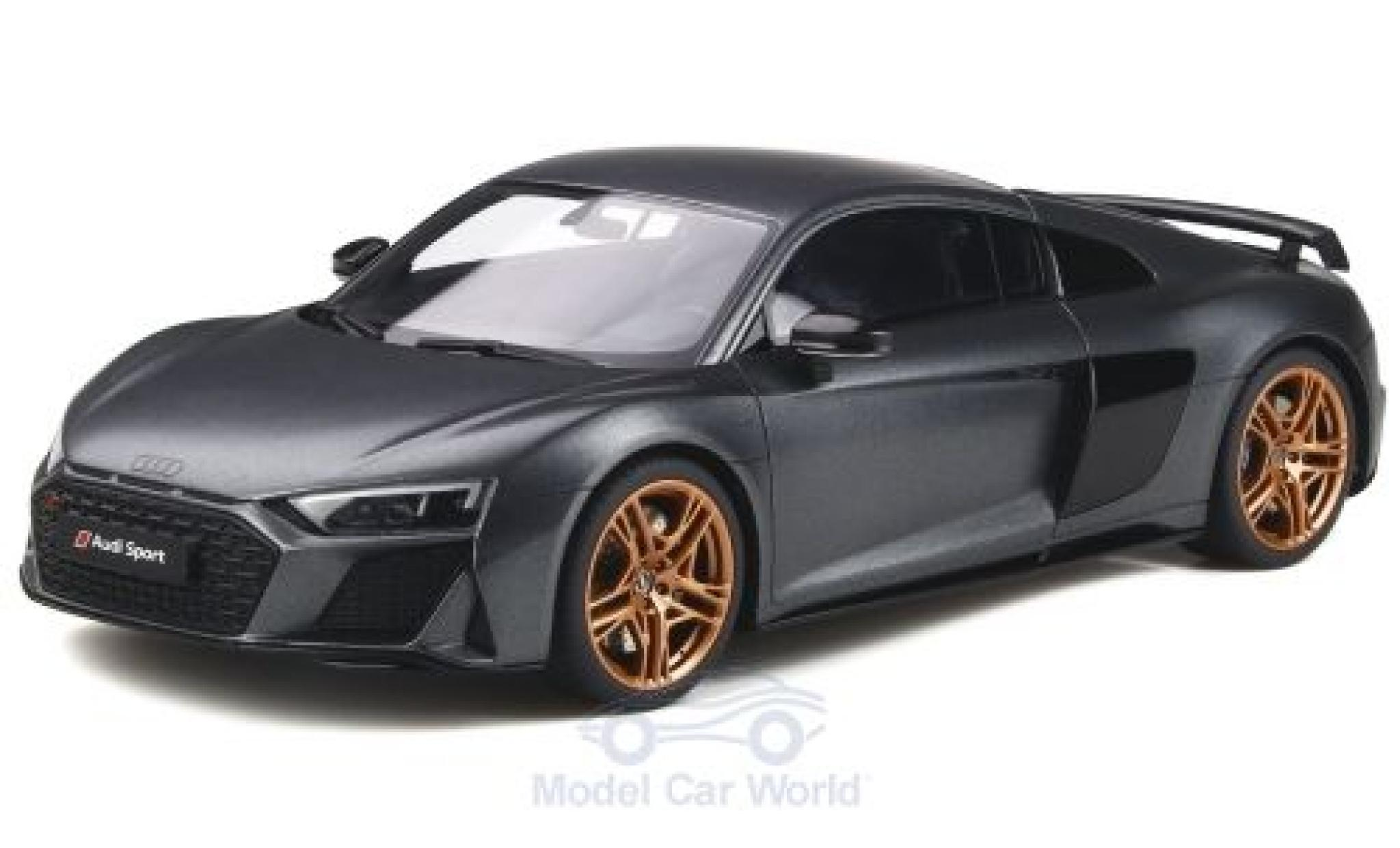 Audi R8 1/18 GT Spirit Decennium matt-grise 2018