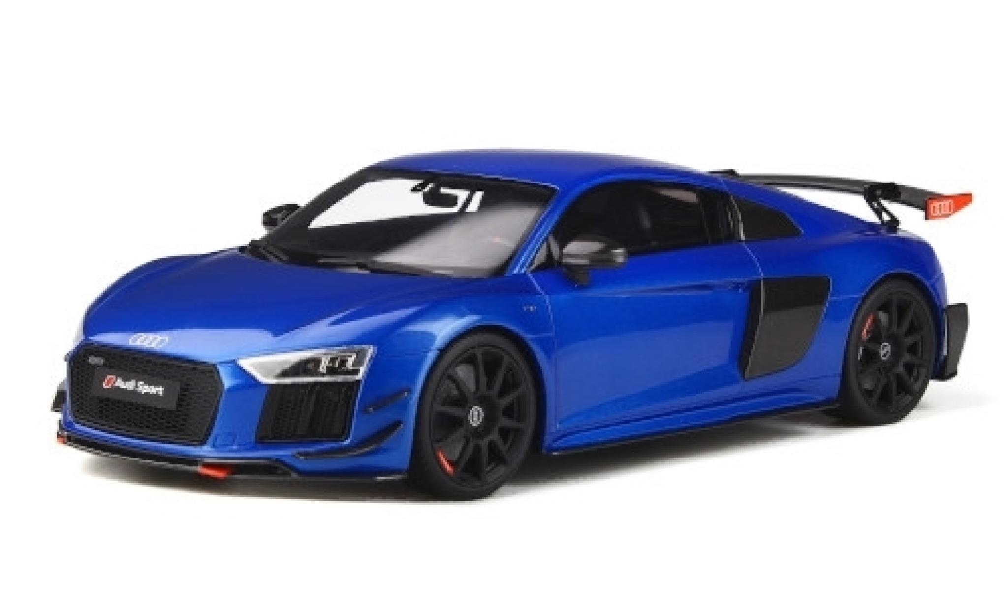 Audi R8 1/18 GT Spirit Performance Parts métallisé bleue