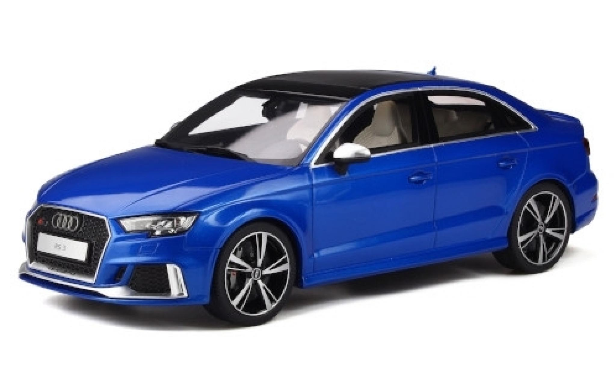 Audi RS3 1/18 GT Spirit Limousine metallise bleue 2017