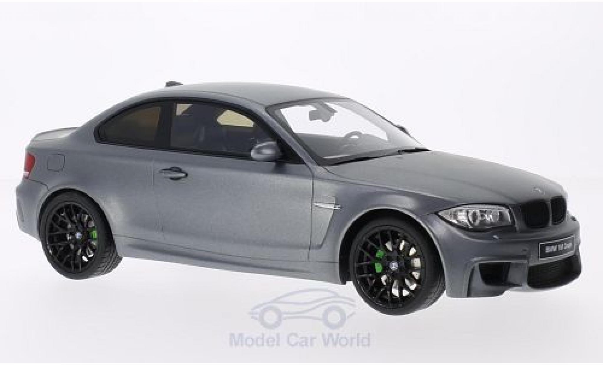 Bmw 1M 1/18 GT Spirit BMW (E82) matt-grise 2011 Türen und Hauben geschlossen