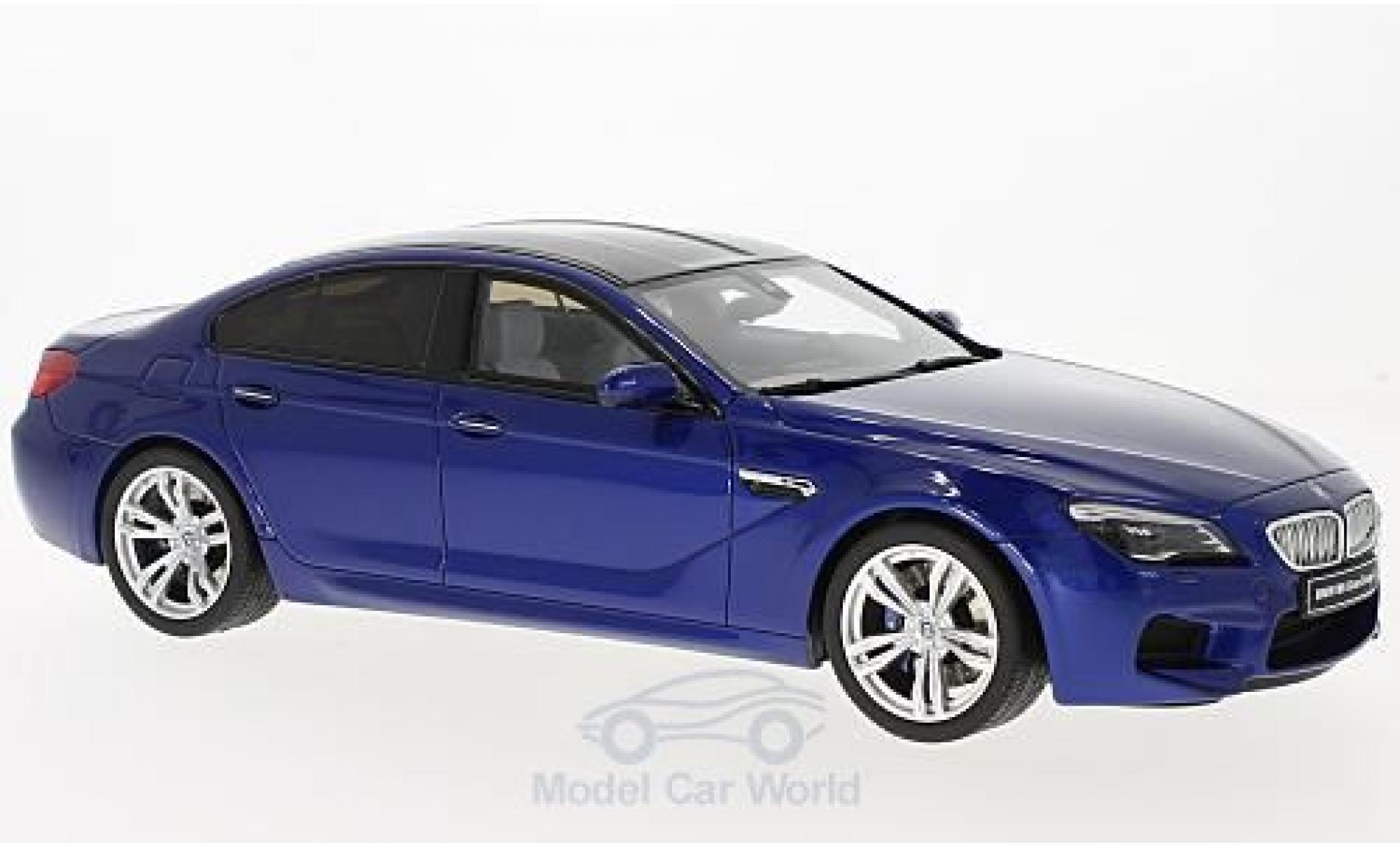 Bmw M6 1/18 GT Spirit Gran Coupe metallise bleue