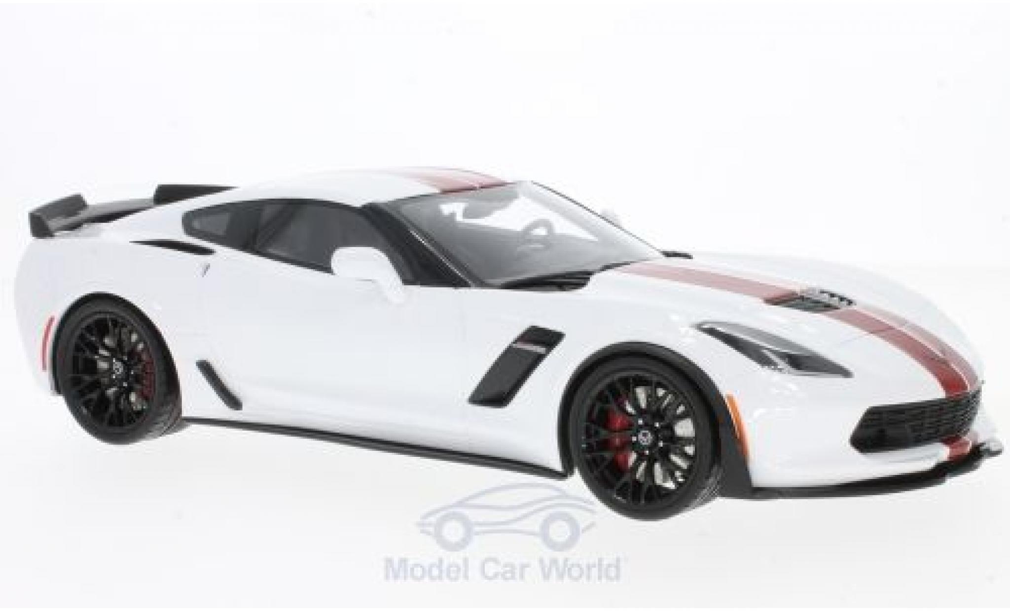 Chevrolet Corvette 1/18 GT Spirit C7 Z06 white/red 2017