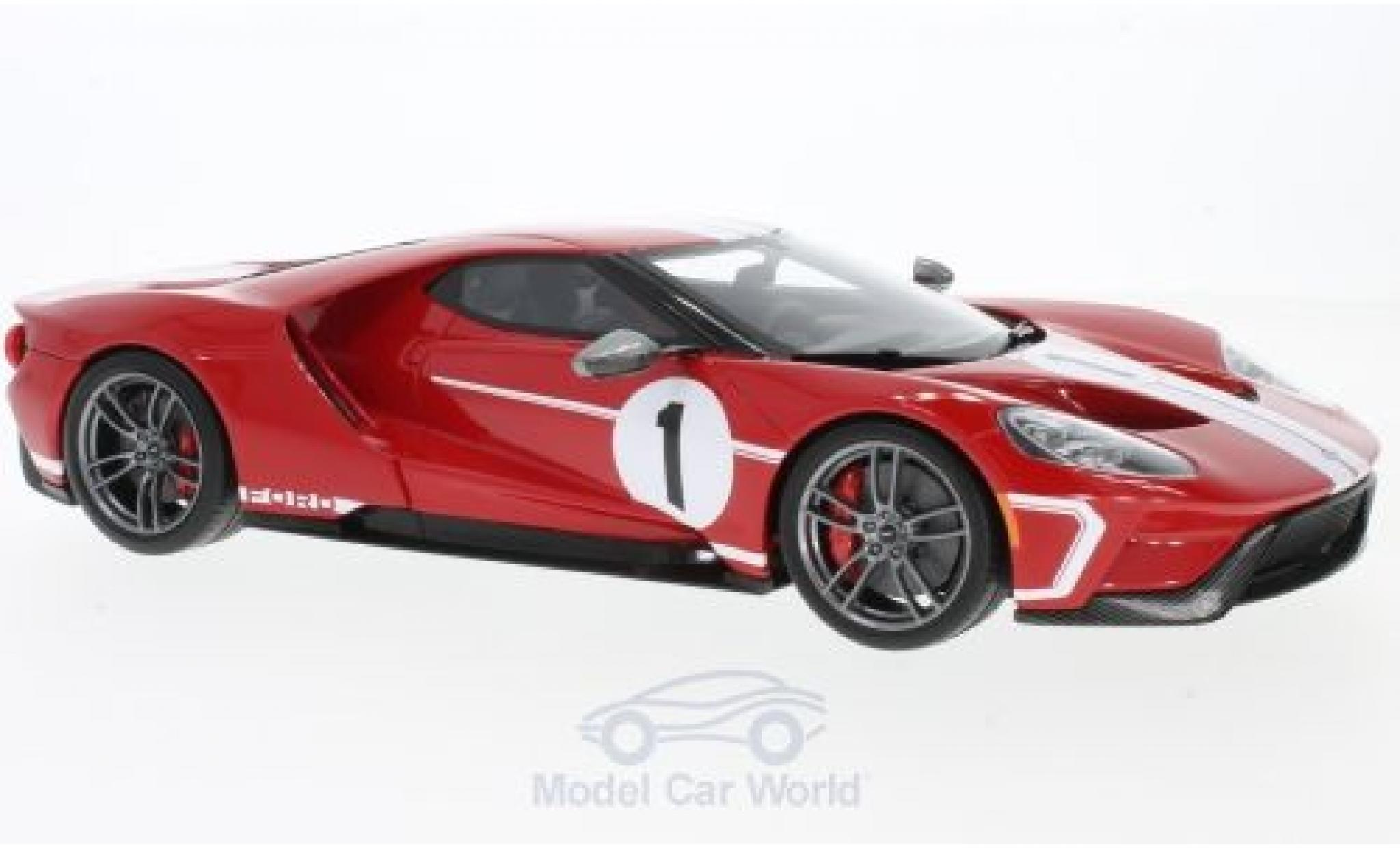 Ford GT 1/18 GT Spirit rouge/blanche No.1 2017 50th Heritage edition