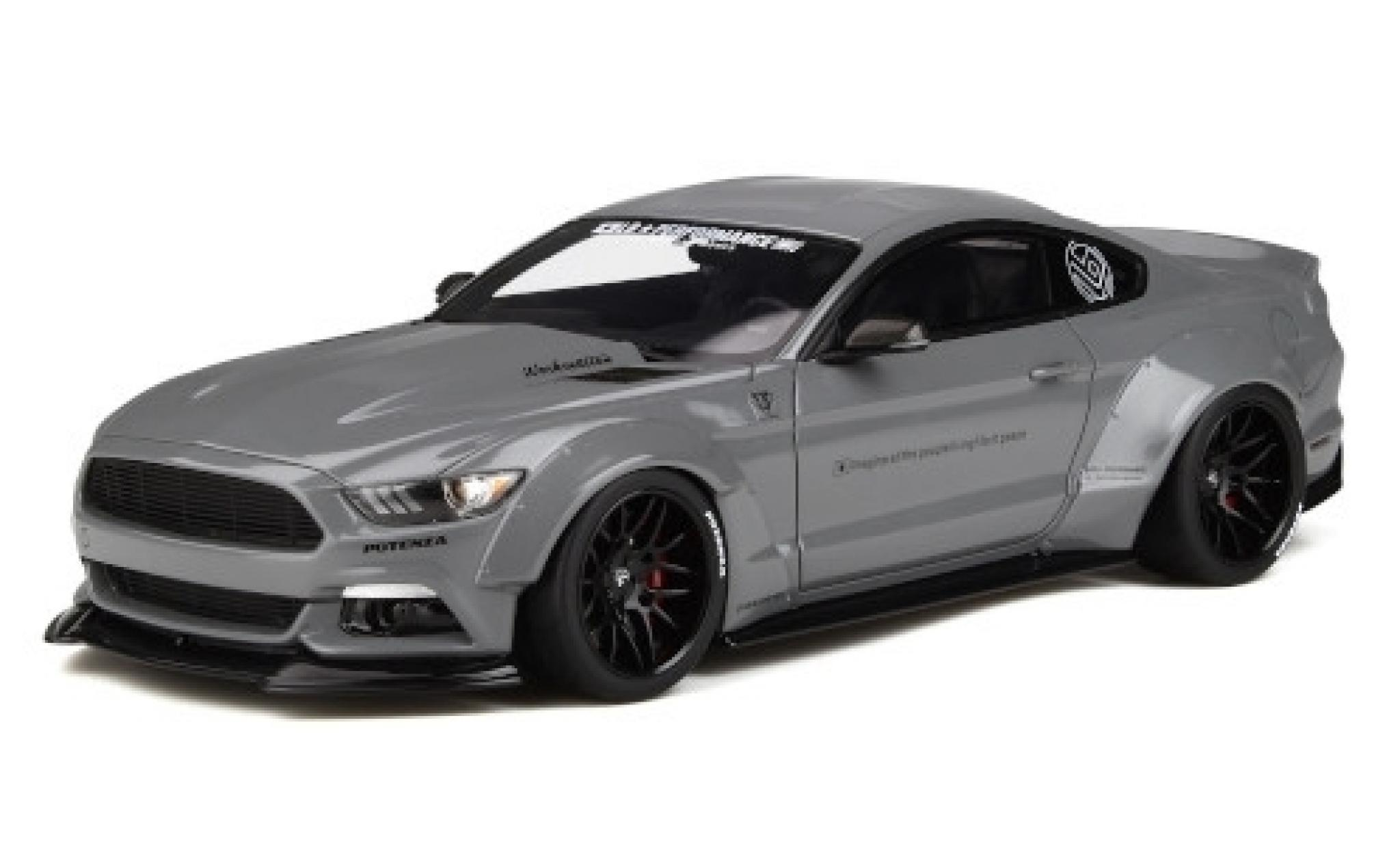 Ford Mustang 1/18 GT Spirit by LB-Works grau