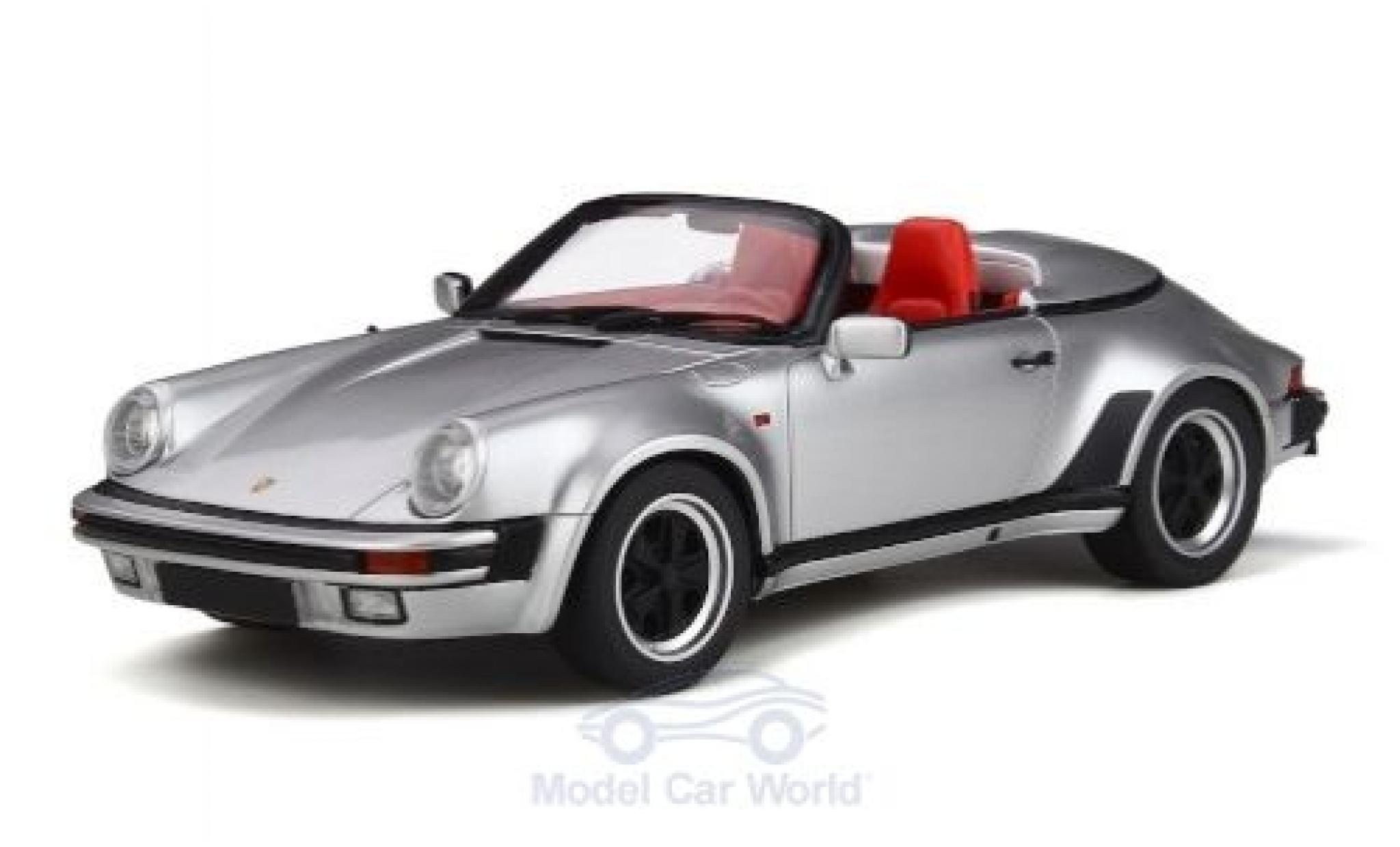 Porsche 911 1/18 GT Spirit 3.2 Speedster grise 1988
