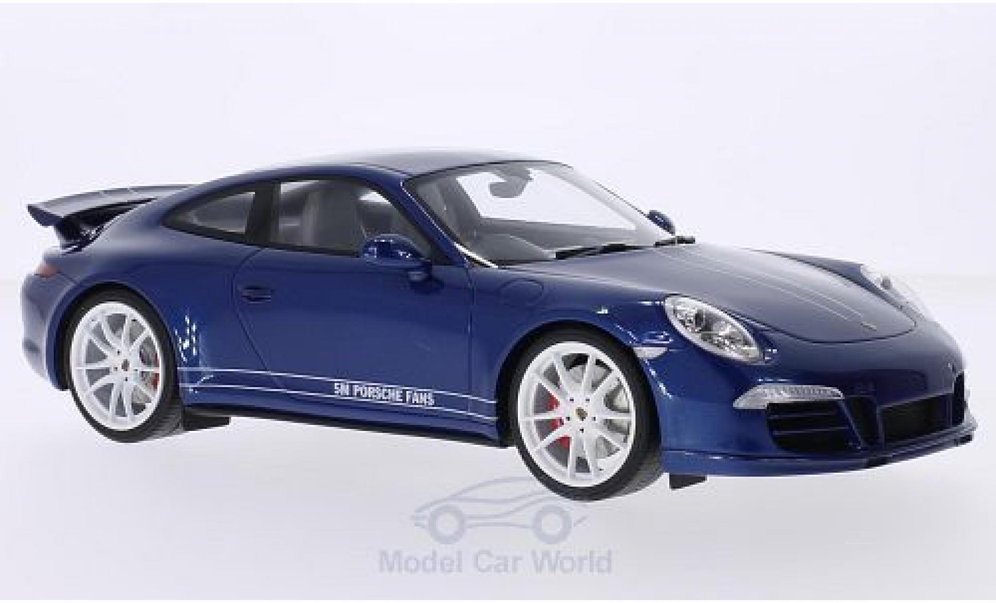 Porsche 991 SC 1/18 GT Spirit (991) Carrera 4S metallic-blue/white RHD 5M Fans