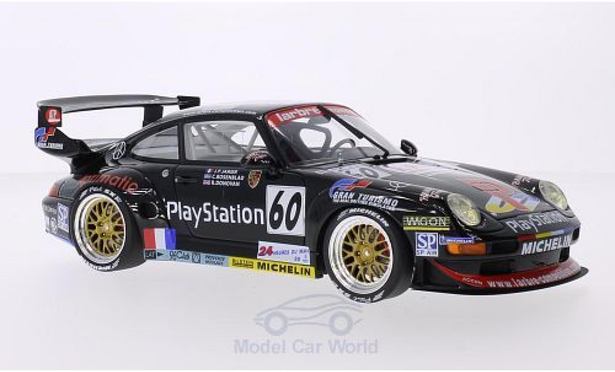 Porsche 911 1/18 GT Spirit (993) GT2 LM No.60 Larbre Competition Playstation 24h Le Mans 1998 J-P.Jarier/C.Rosenblad/R.Donovan
