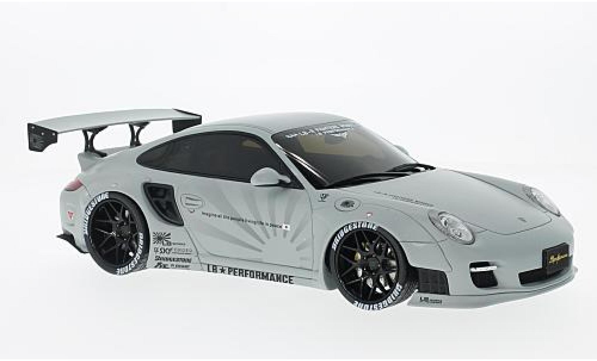 Porsche 997 1/18 GT Spirit 911  LB Performance matt-grey