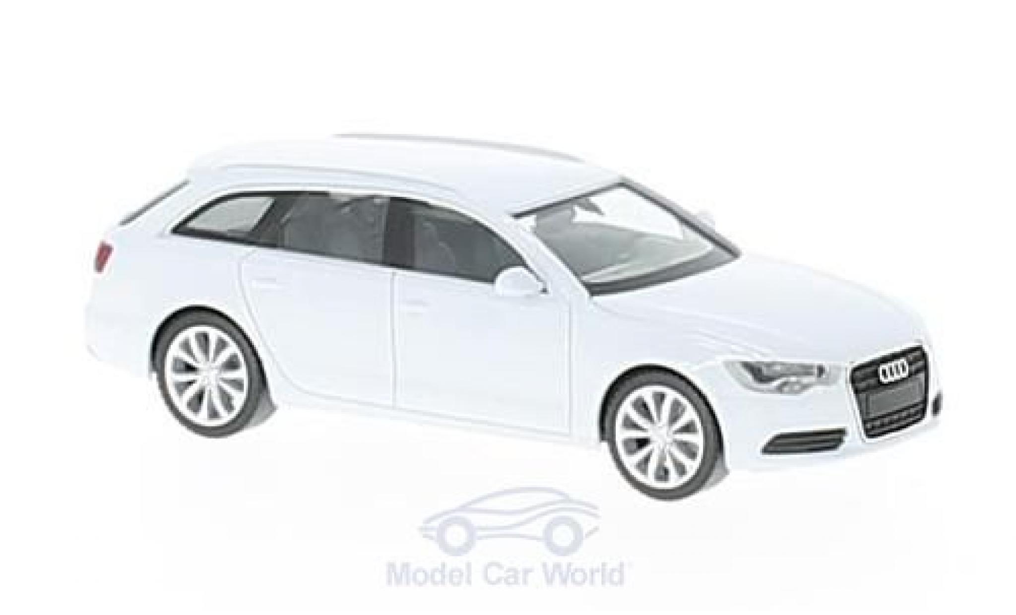 Audi A6 1/87 Herpa Avant métallisé blanche
