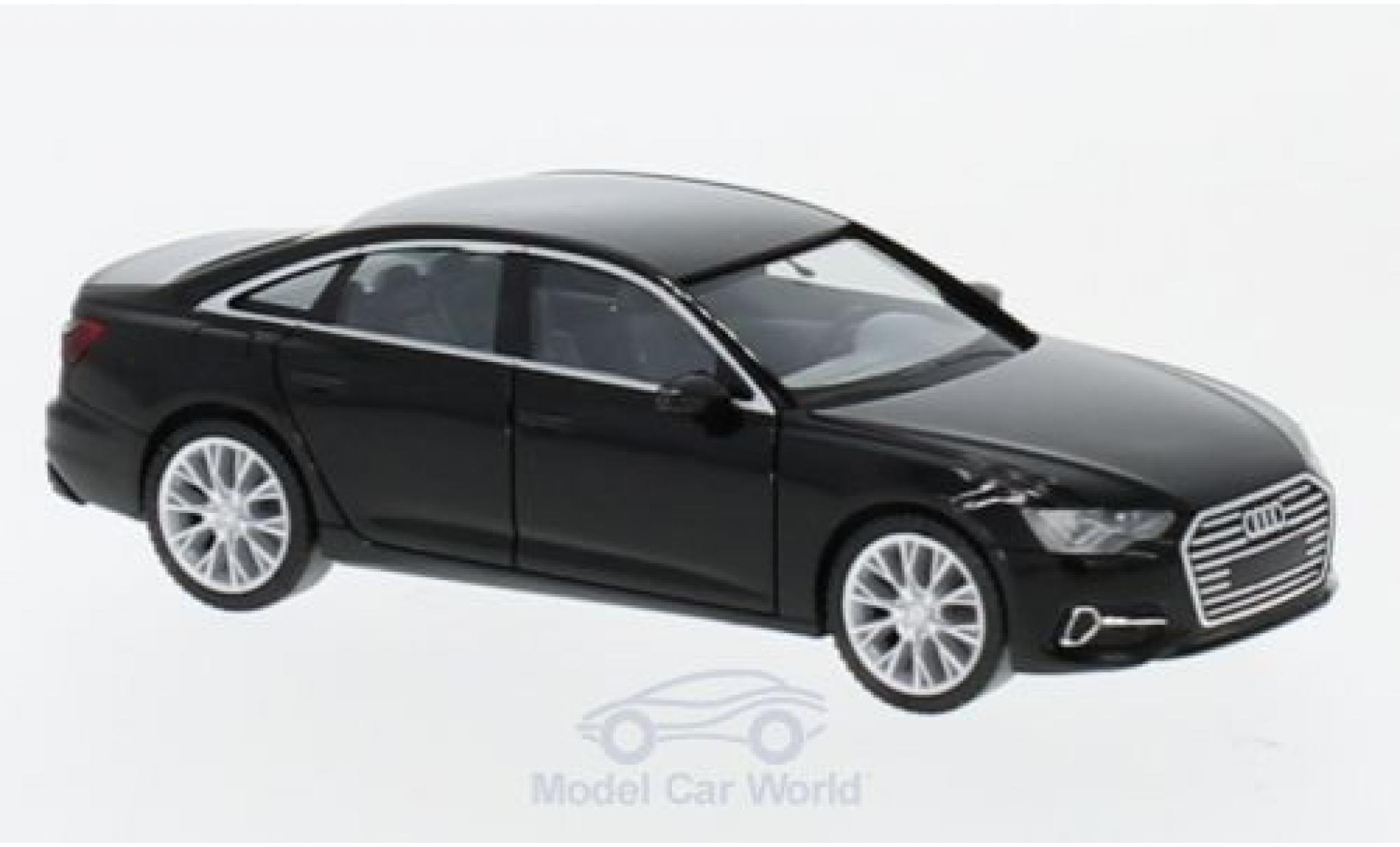 Audi A6 1/87 Herpa Limousine noire