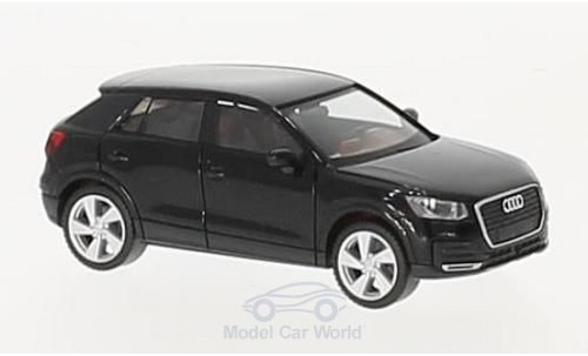 Audi Q2 1/87 Herpa metallise noire