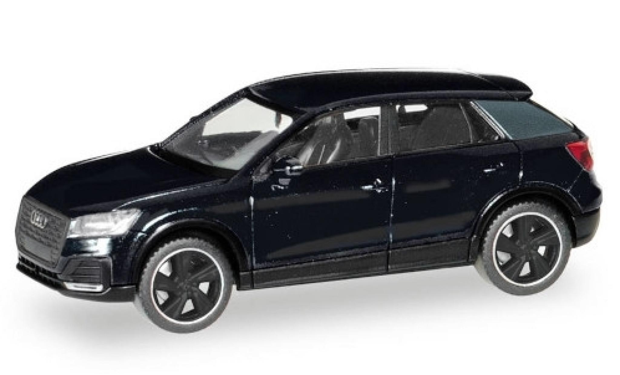 Audi Q2 1/87 Herpa black Black Edition