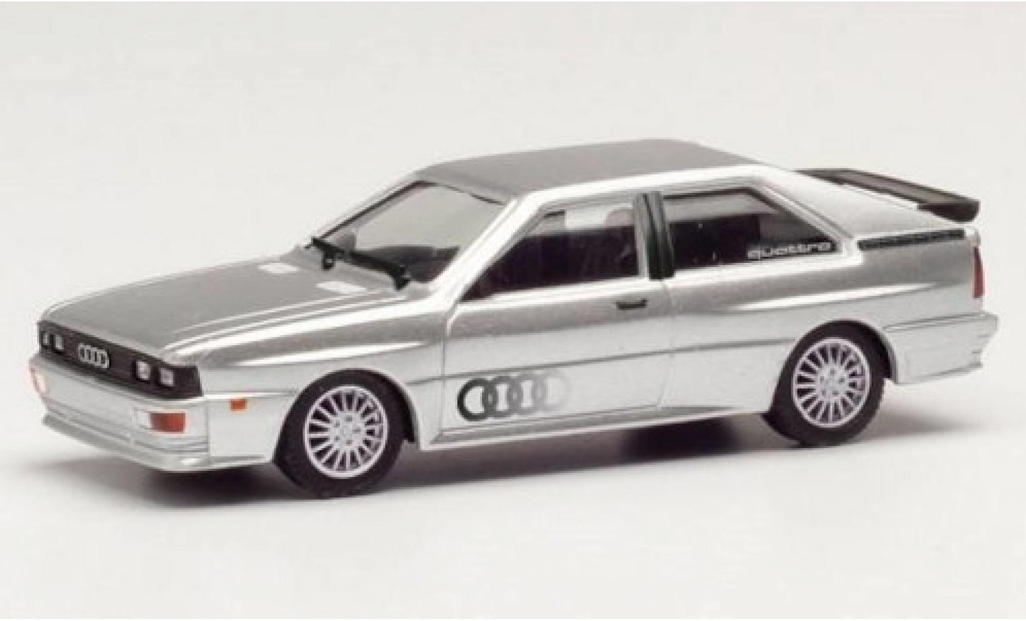 Audi Quattro 1/87 Herpa grise/Dekor