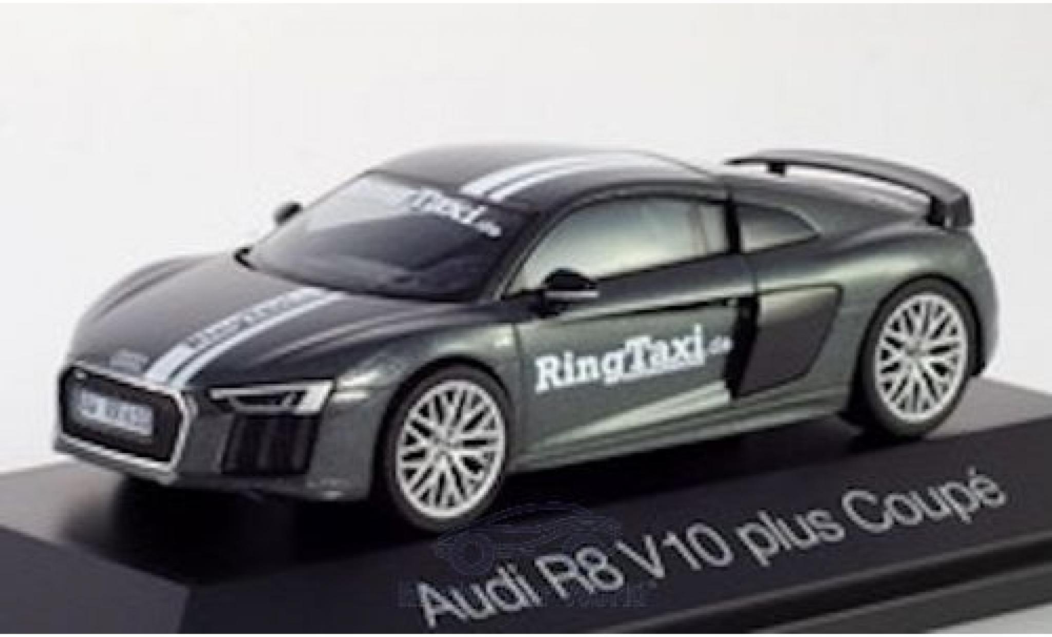 Audi R8 1/43 Herpa V10 Plus metallise grey/Dekor RingTaxi Nürburgring