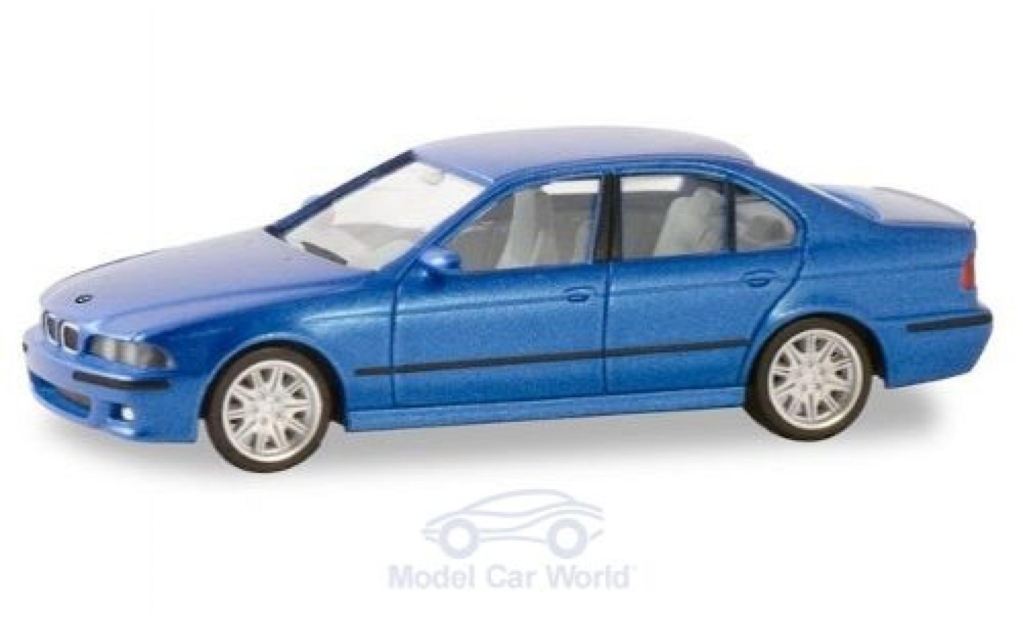Bmw M5 1/87 Herpa (E34) métallisé bleue